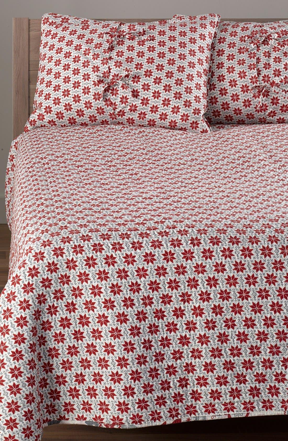 LEVTEX,                             'Silver Bells' Reversible Quilt,                             Alternate thumbnail 4, color,                             600