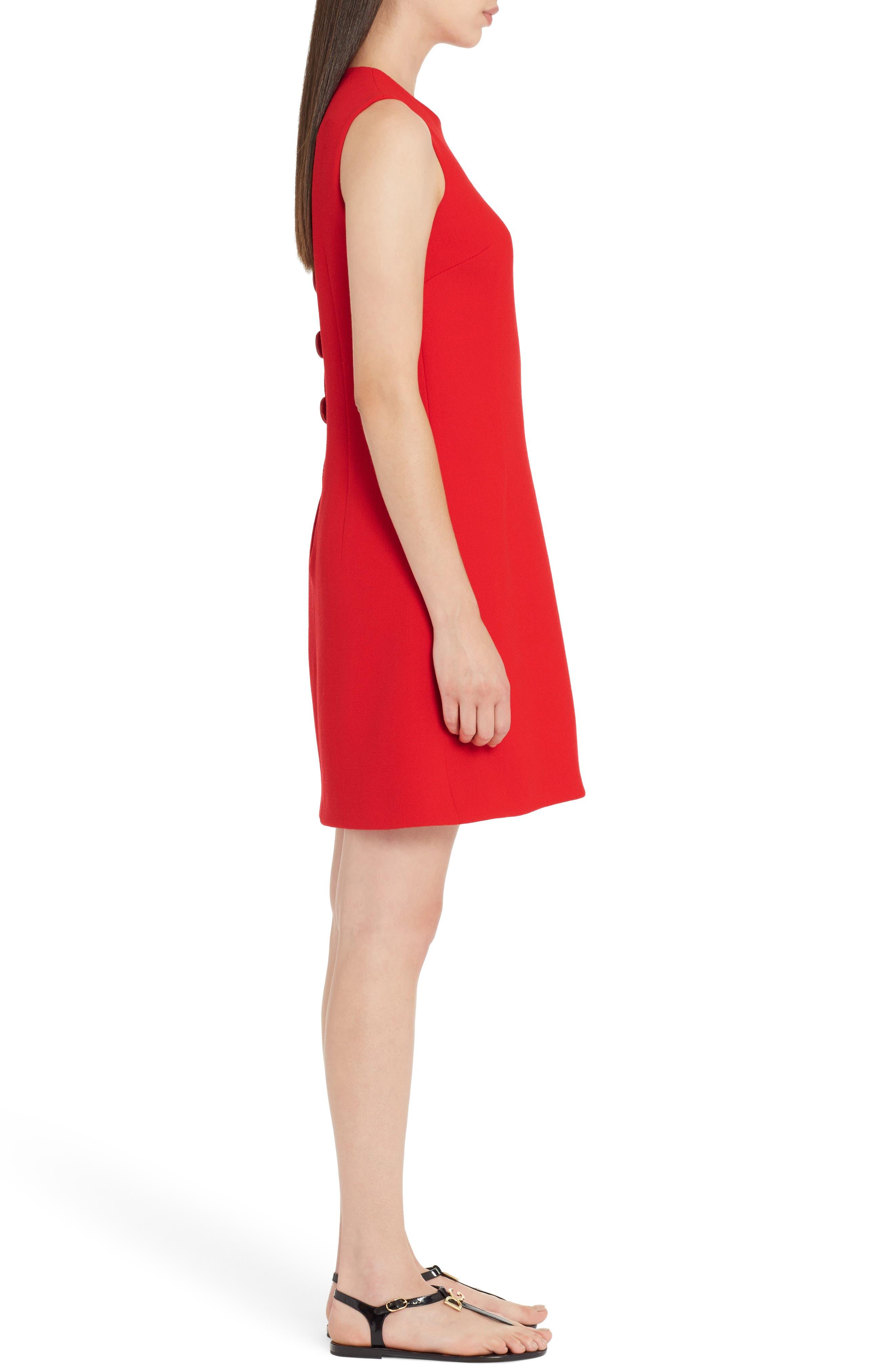 Crepe Shift Dress,                             Alternate thumbnail 3, color,                             620