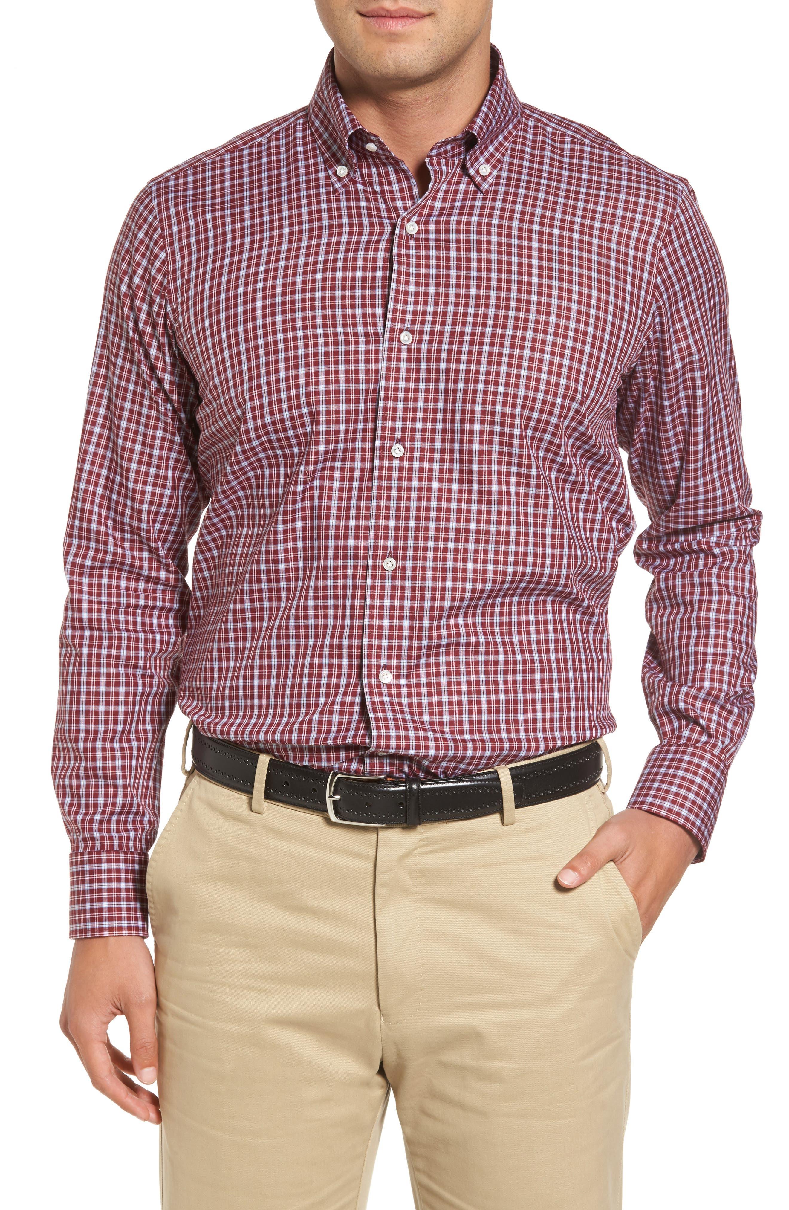 Peter Millar Isle Check Regular Fit Sport Shirt,                             Main thumbnail 1, color,                             930