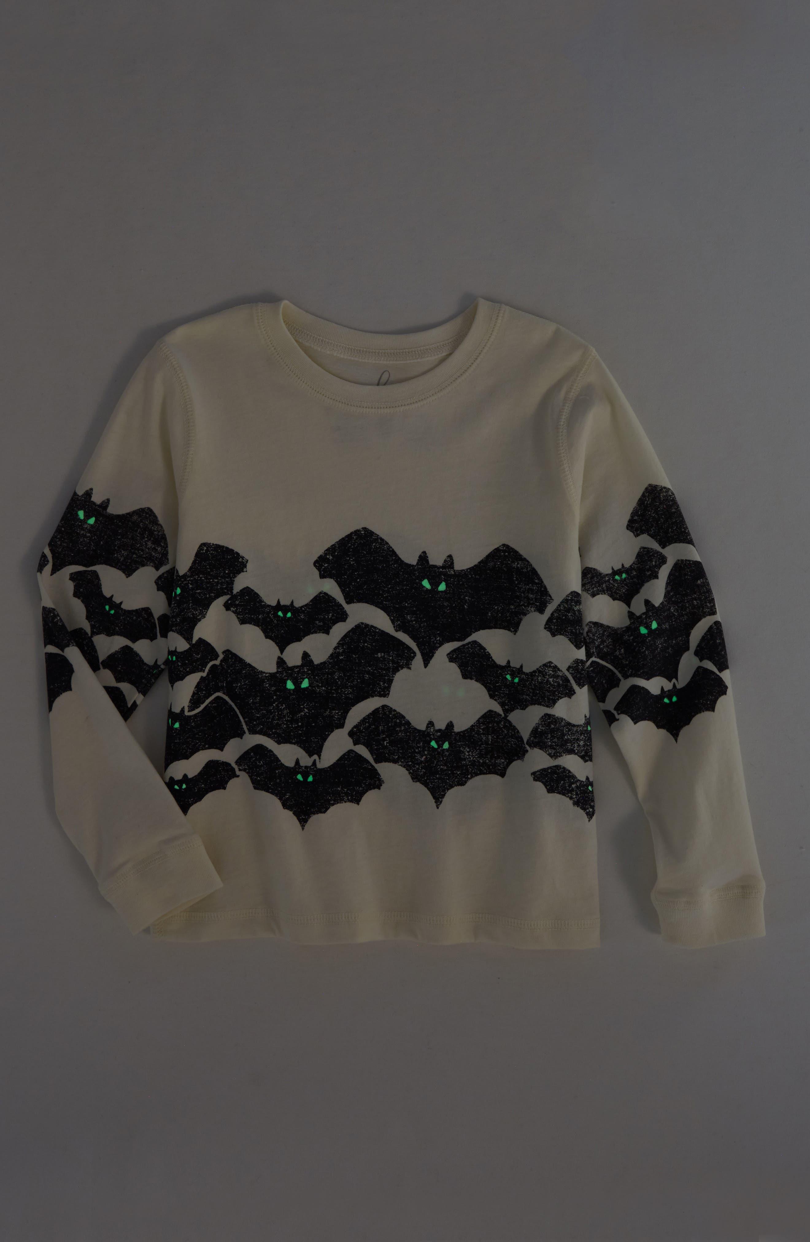 Bats Glow in the Dark T-Shirt,                             Alternate thumbnail 2, color,                             900