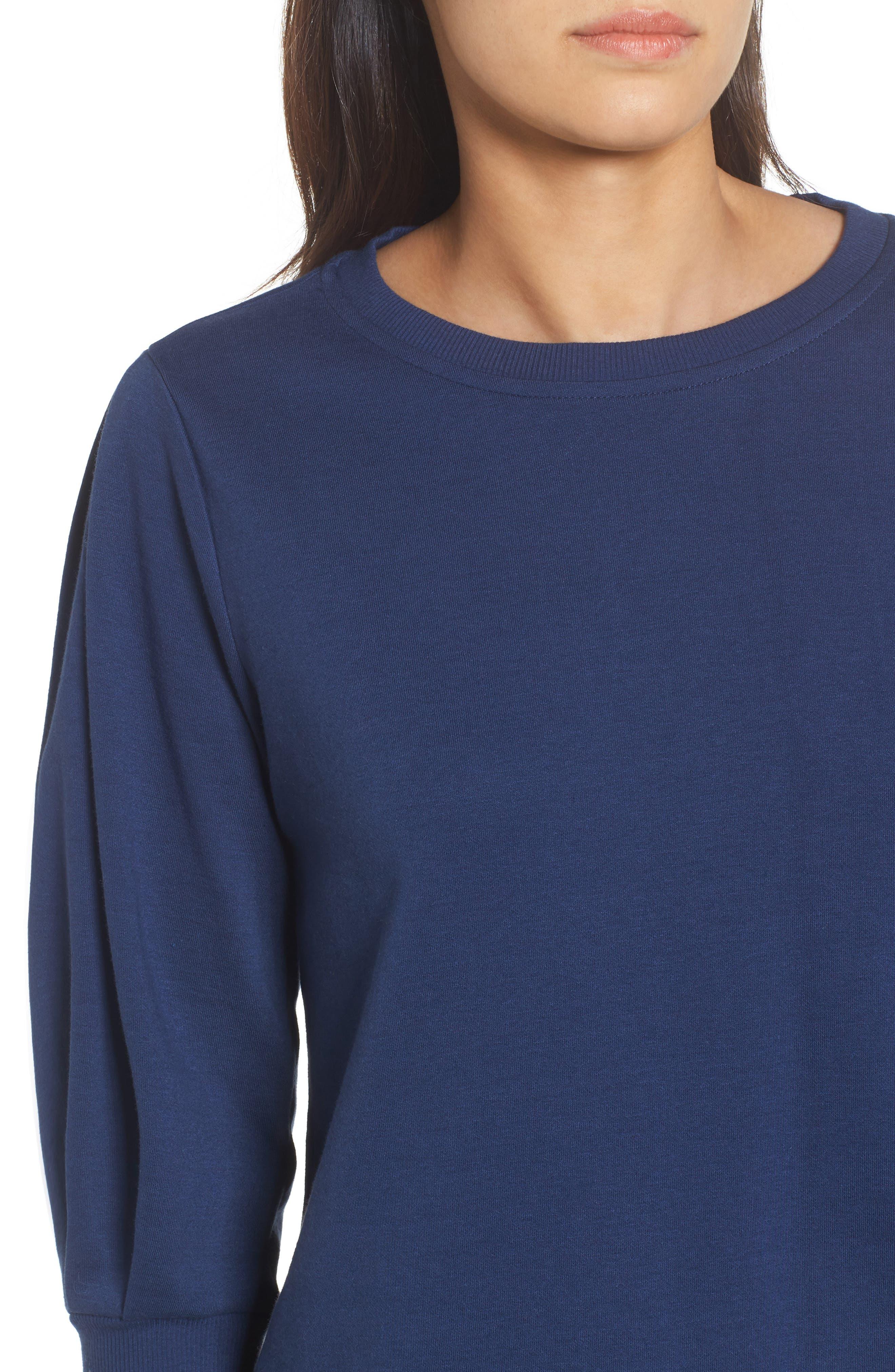 Blouson Sleeve Sweatshirt,                             Alternate thumbnail 19, color,
