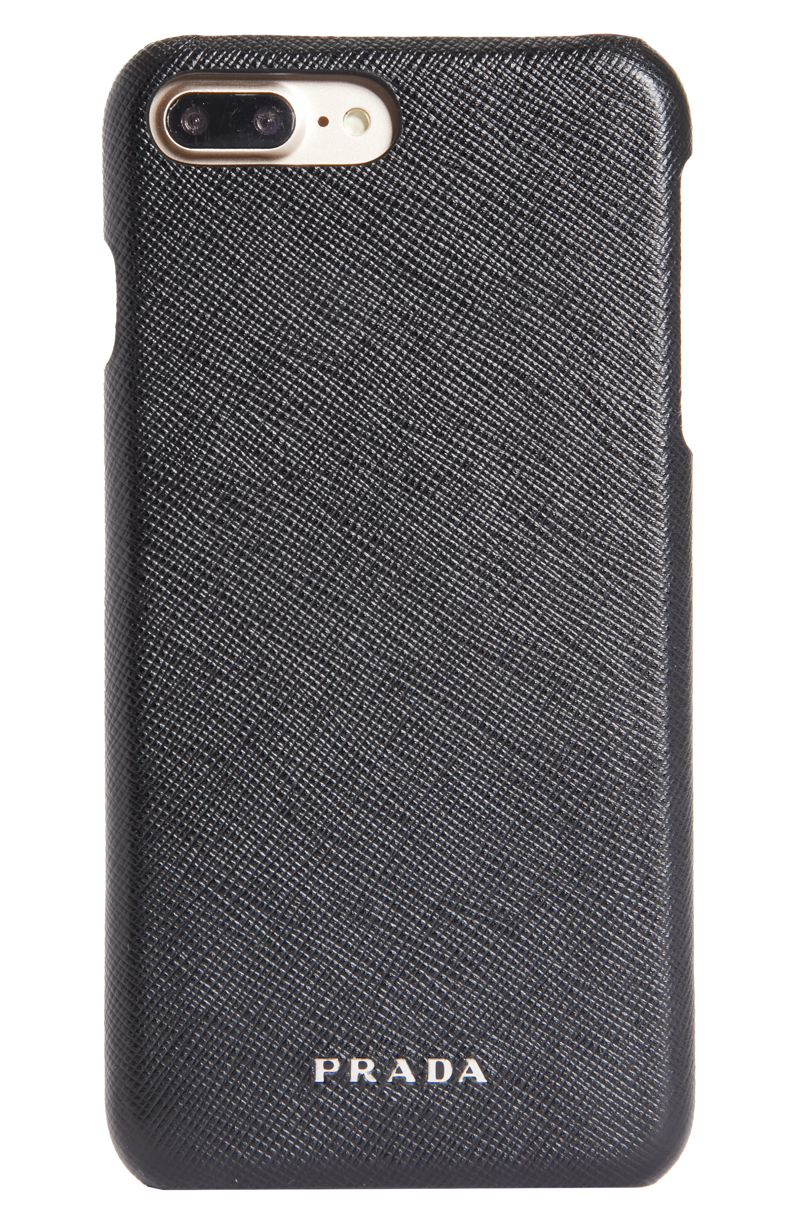Saffiano Leather iPhone 8 Case,                             Main thumbnail 1, color,                             001