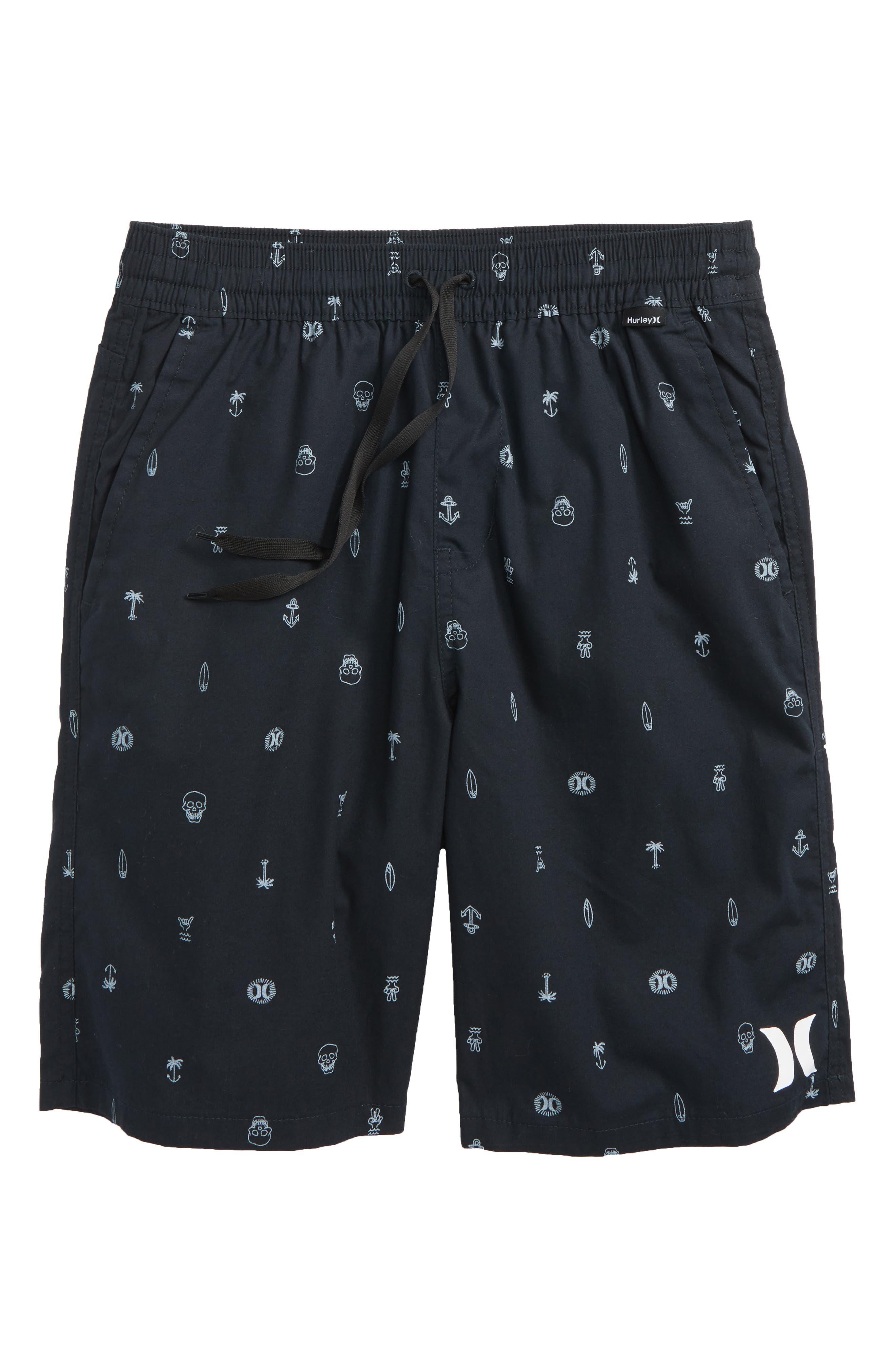 Print Pull-On Shorts,                             Main thumbnail 1, color,                             001