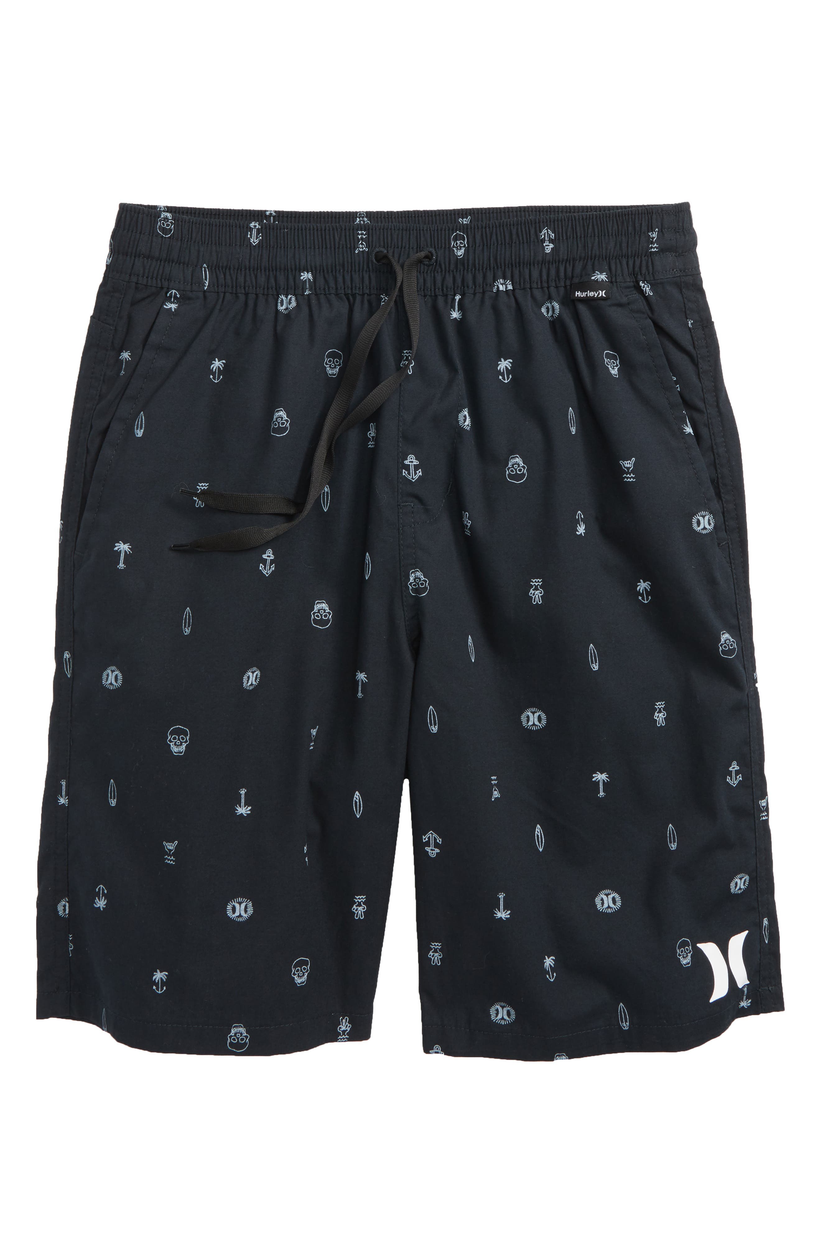 Print Pull-On Shorts,                         Main,                         color, 001