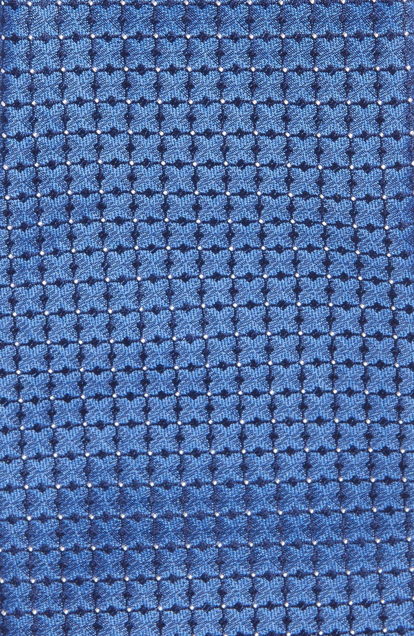 Gower Check Cotton & Silk Tie,                             Alternate thumbnail 2, color,                             400