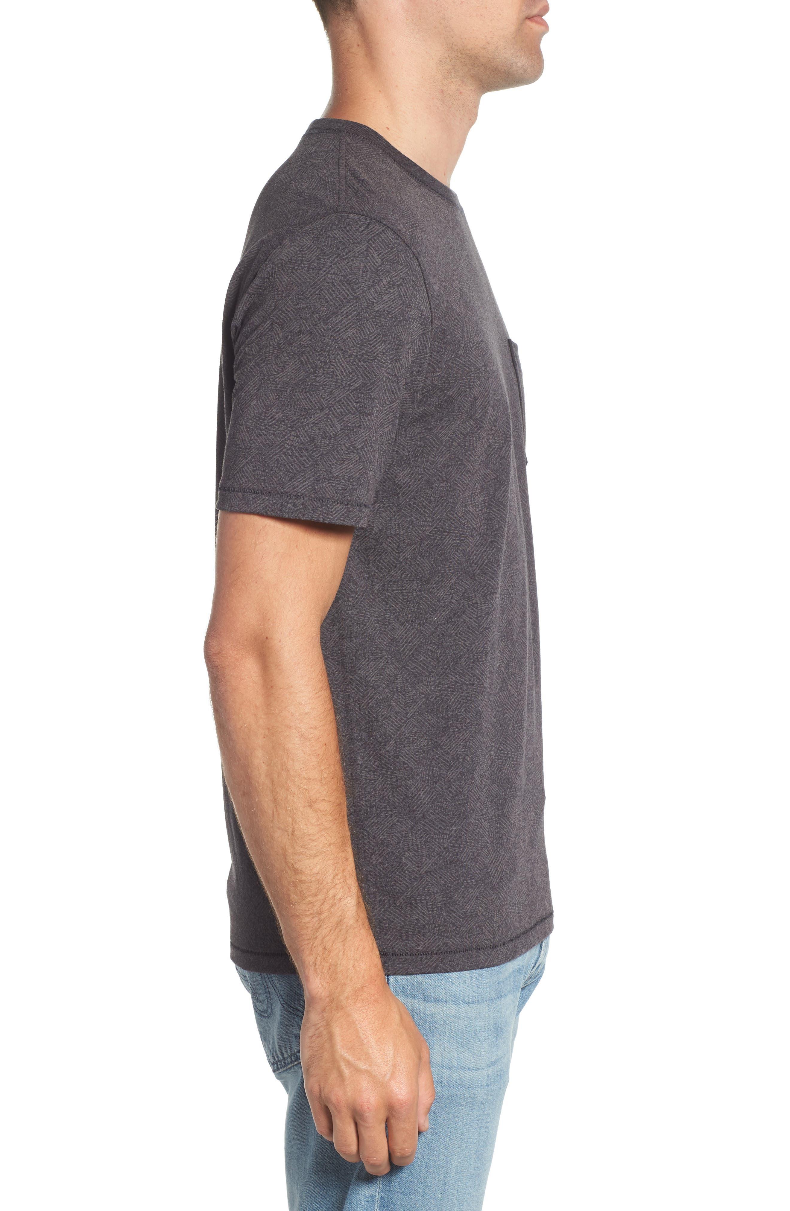 Field Line Crewneck T-Shirt,                             Alternate thumbnail 3, color,                             FIELD LINE