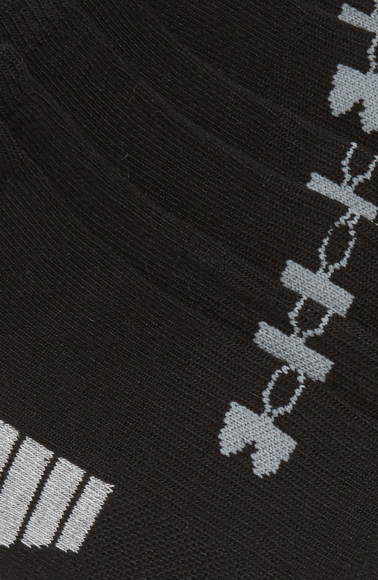 HeatGear 3-Pack No-Show Socks,                             Alternate thumbnail 2, color,                             001