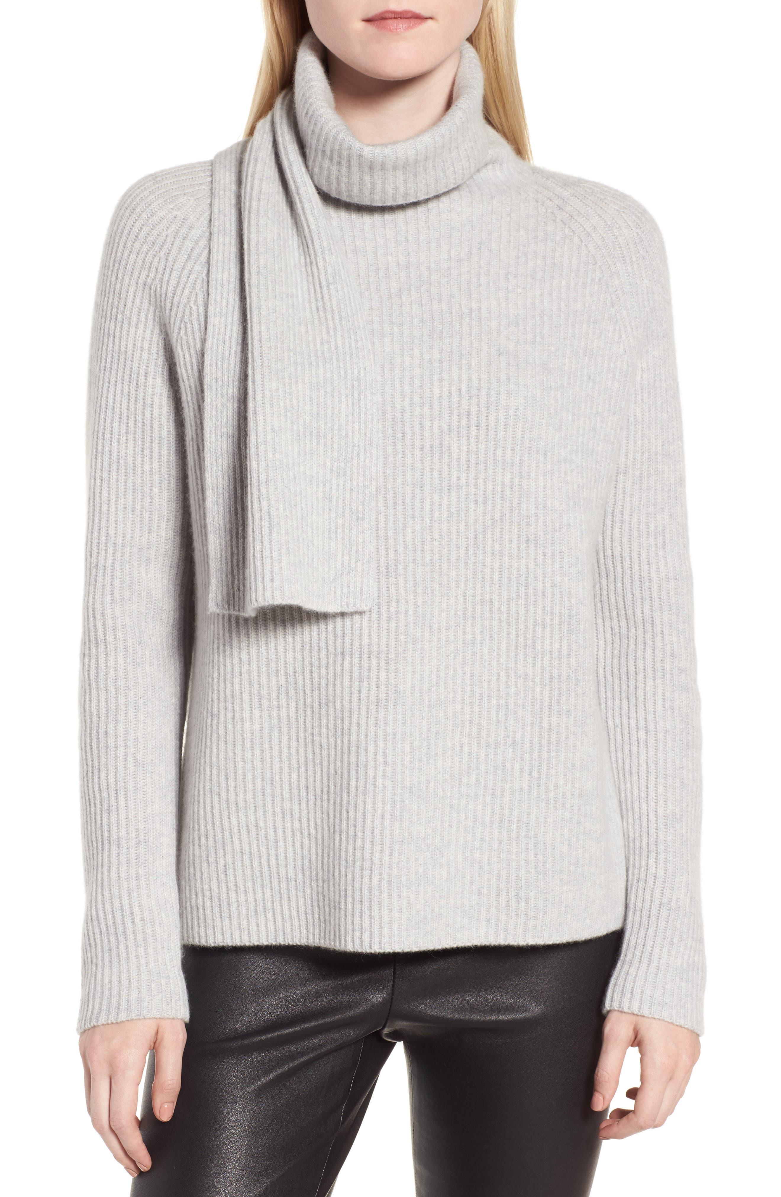 Scarf Neck Cashmere Sweater,                         Main,                         color, 050