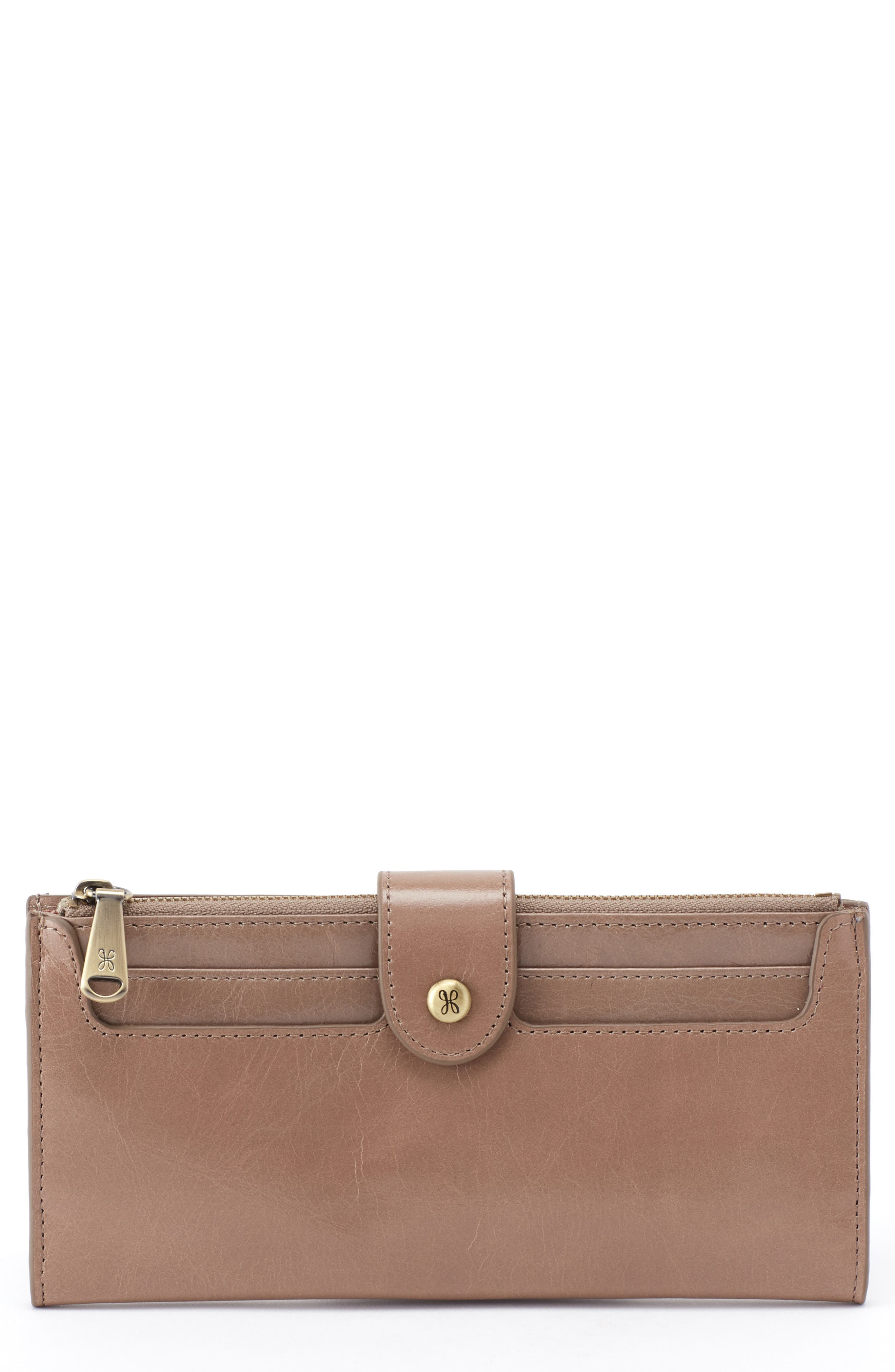 Dunn Leather Continental Wallet, Main, color, COBBLESTONE