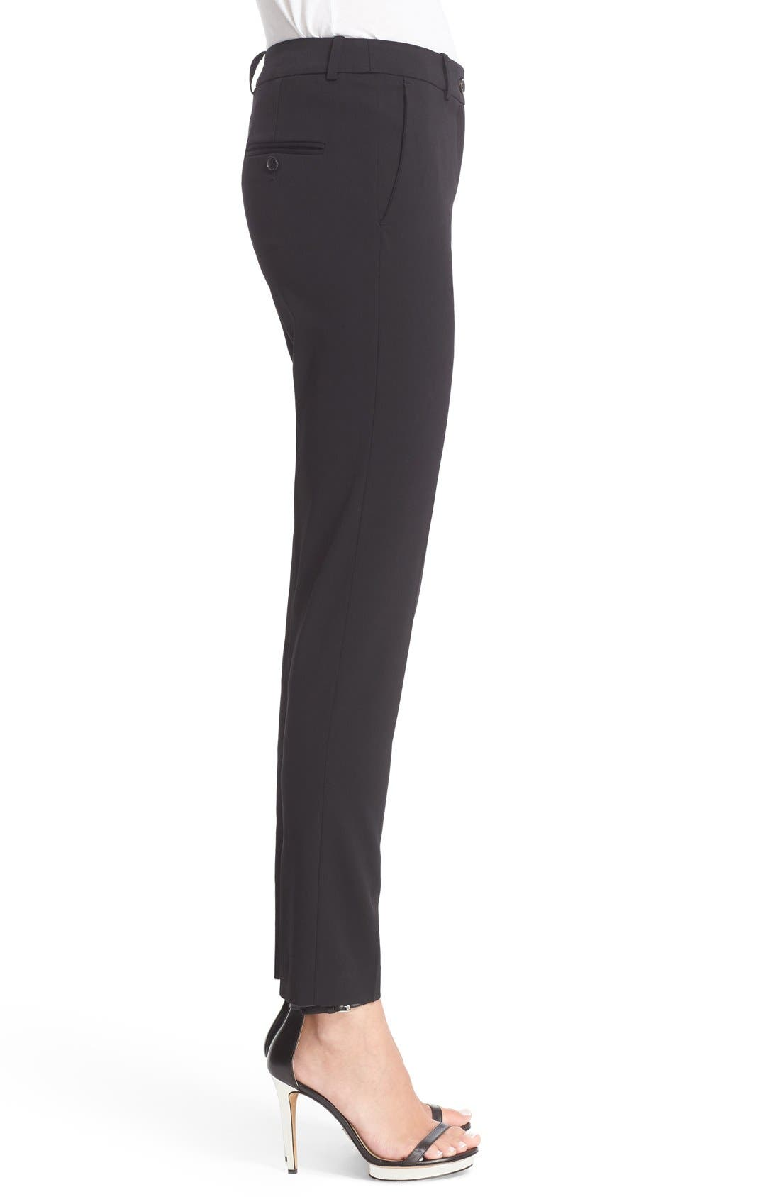 Samantha Straight Leg Pants,                             Alternate thumbnail 6, color,                             BLACK