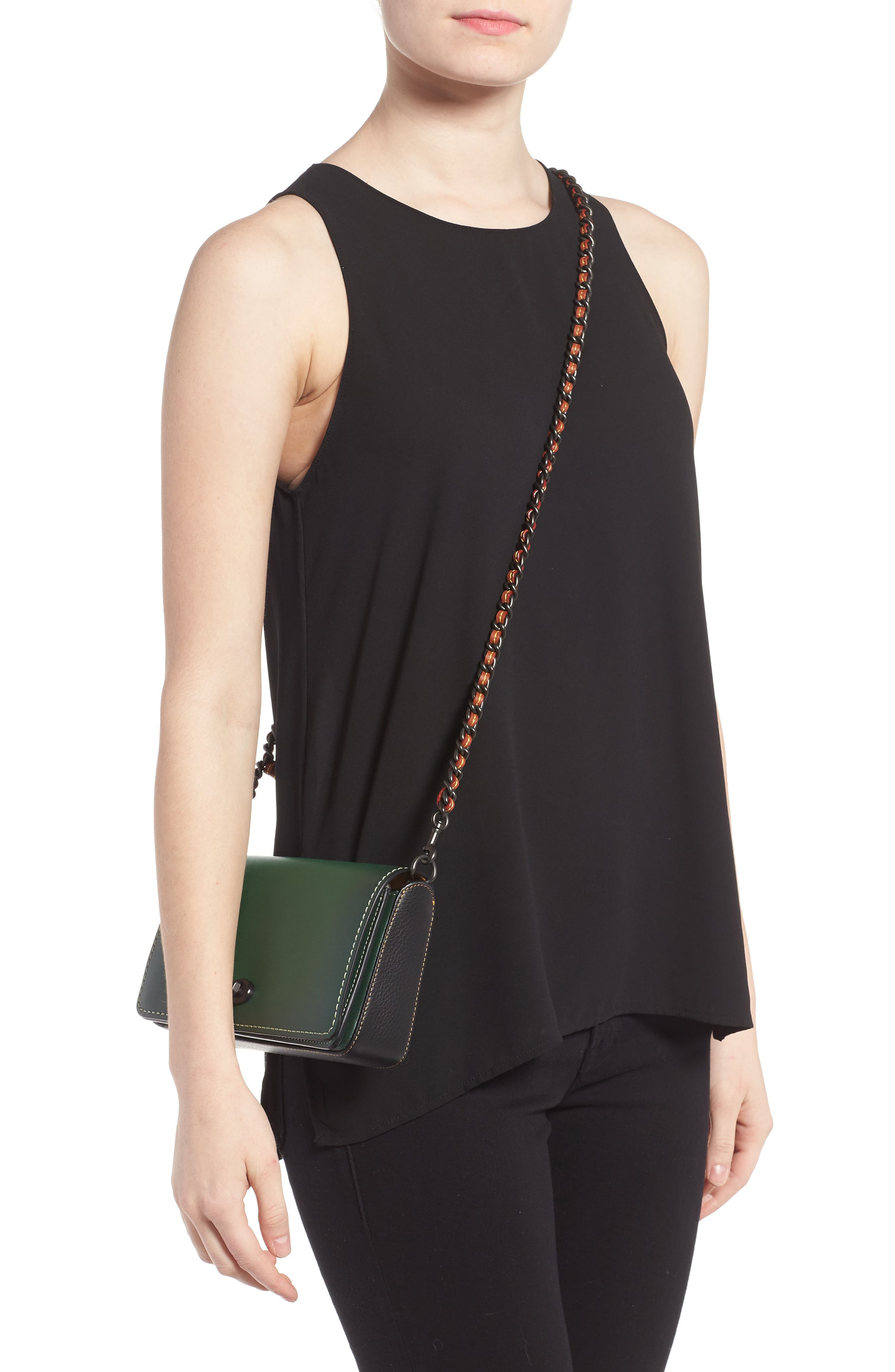 'Dinky' Leather Crossbody Bag,                             Alternate thumbnail 2, color,                             001