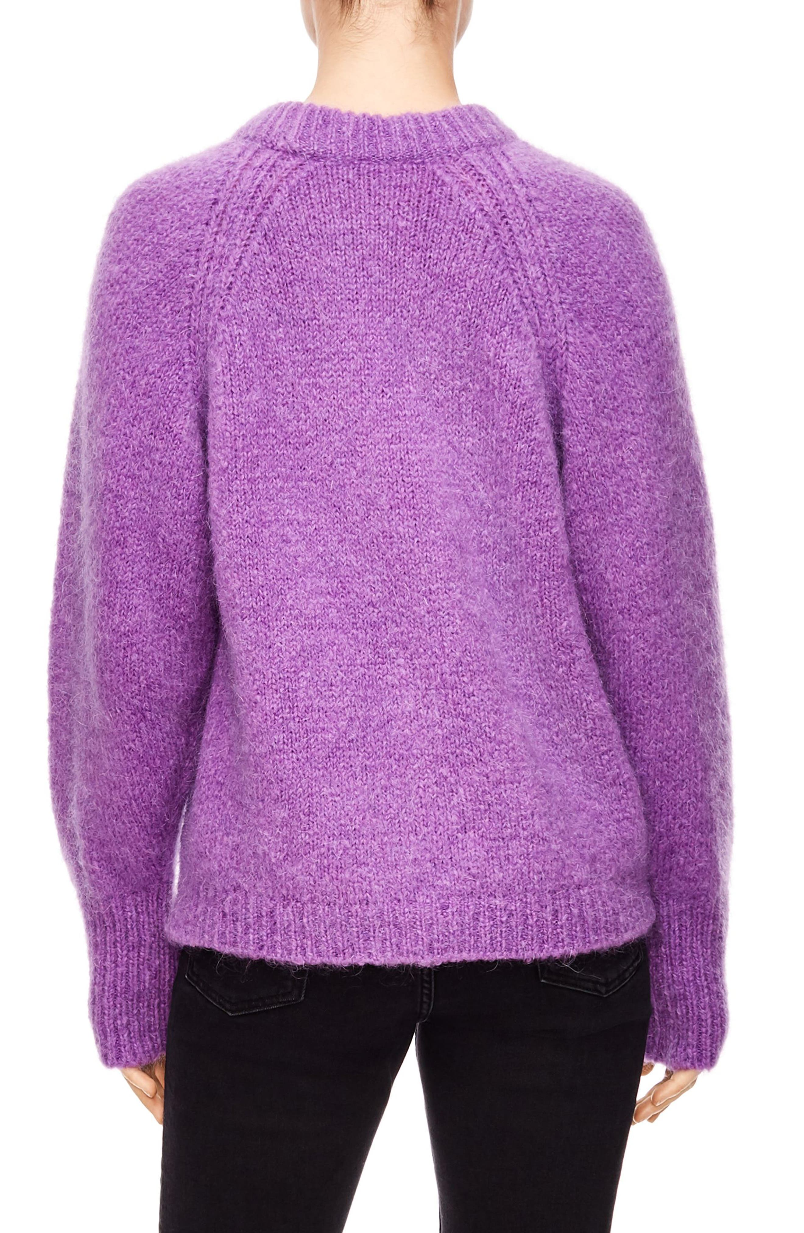 Mohair Blend Oversize Sweater,                             Alternate thumbnail 2, color,                             VIOLET