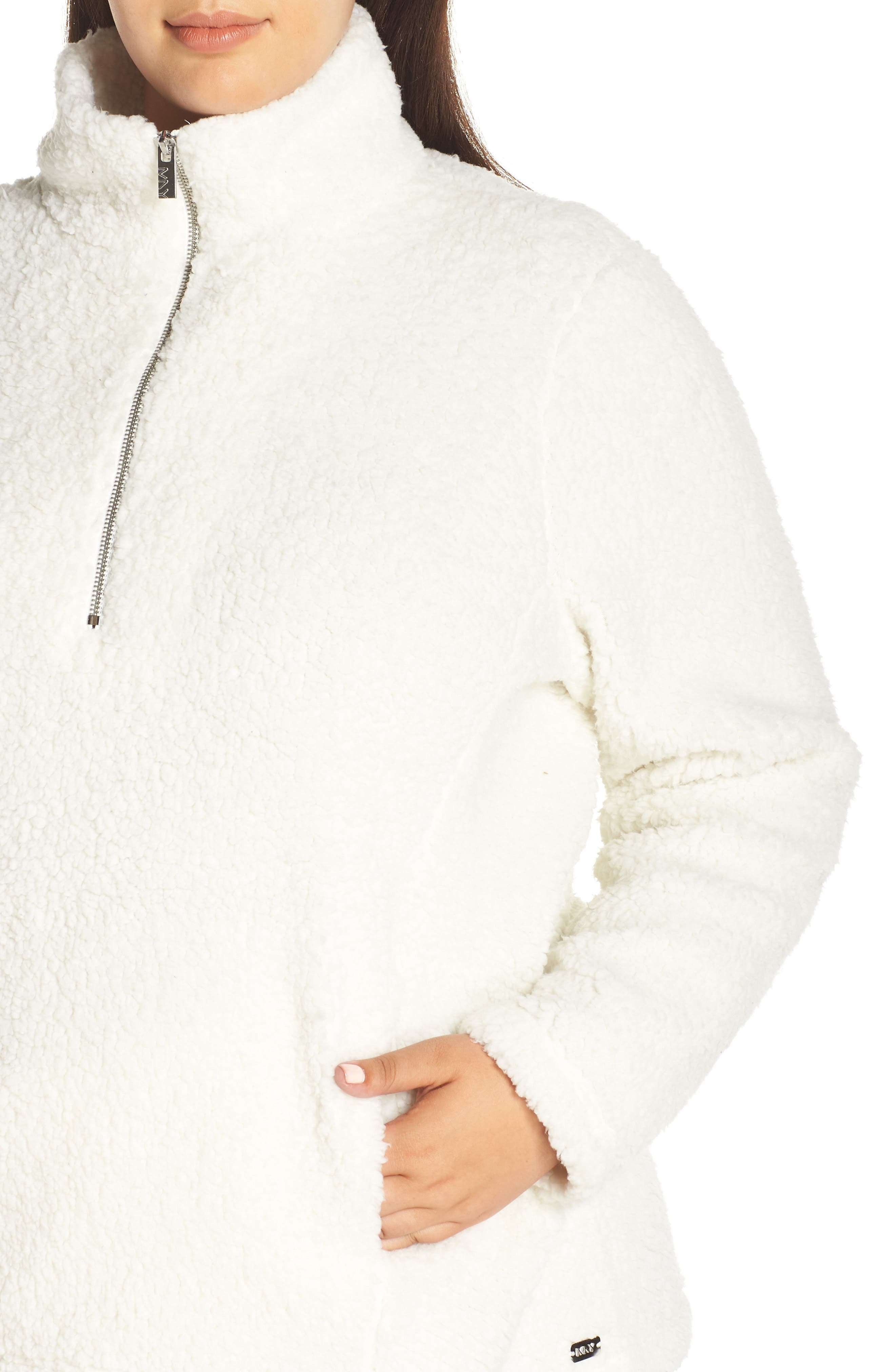 Teddy Fleece Quarter Zip Jacket,                             Alternate thumbnail 4, color,                             900