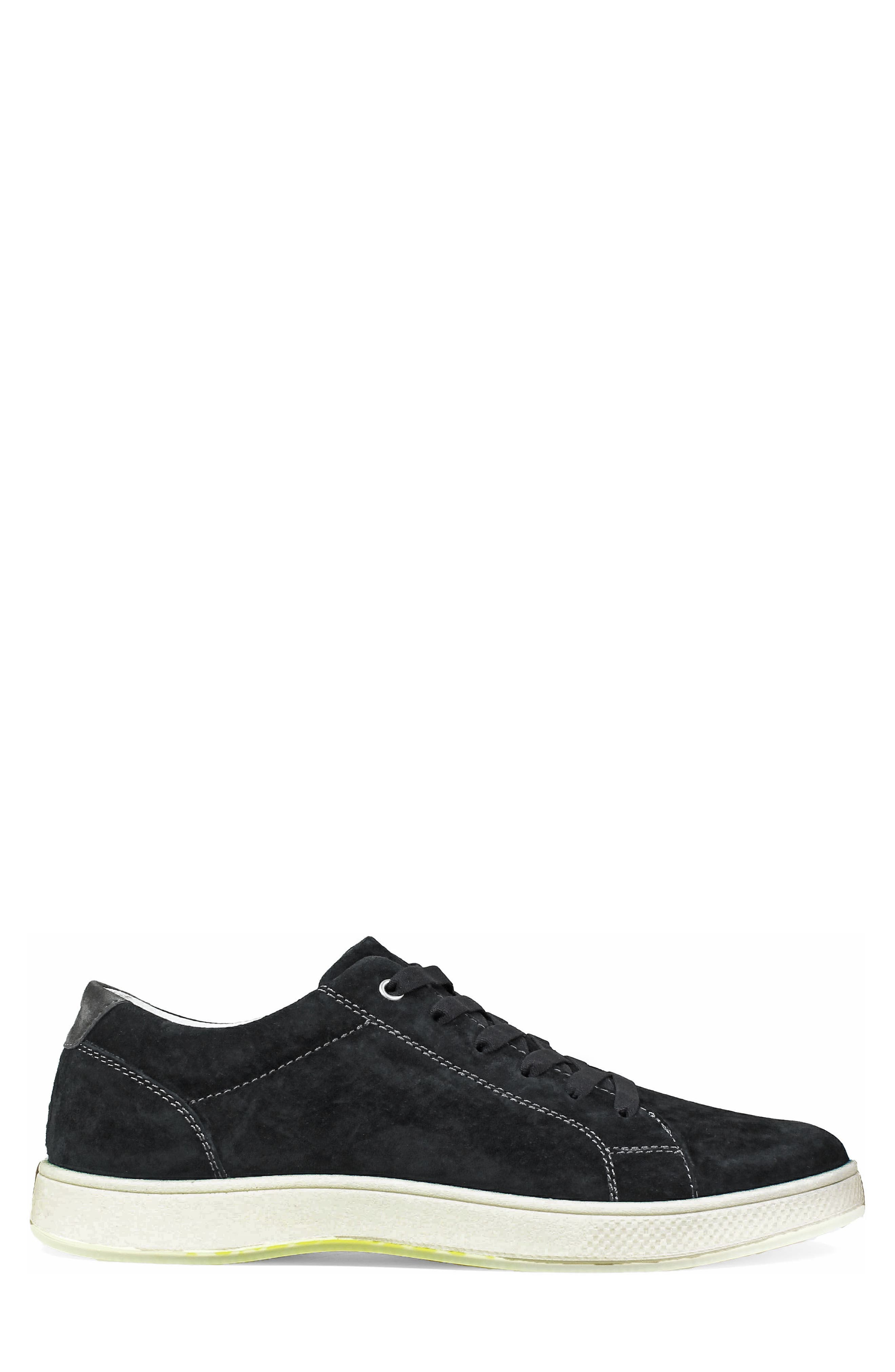 Edge Low Top Sneaker,                             Alternate thumbnail 3, color,                             BLACK NUBUCK