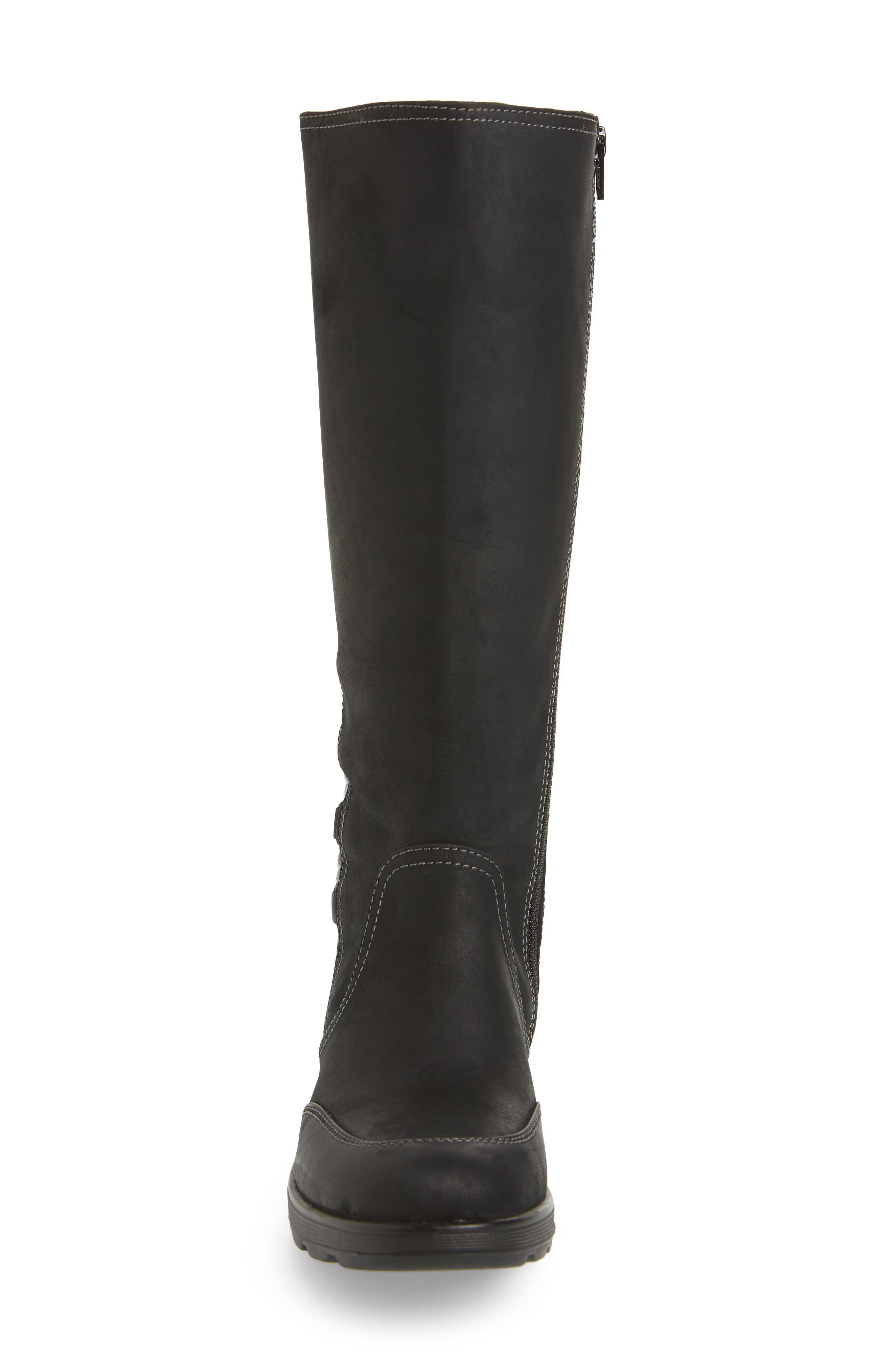 Epping Waterproof Knee High Boot,                             Alternate thumbnail 4, color,                             BLACK LEATHER