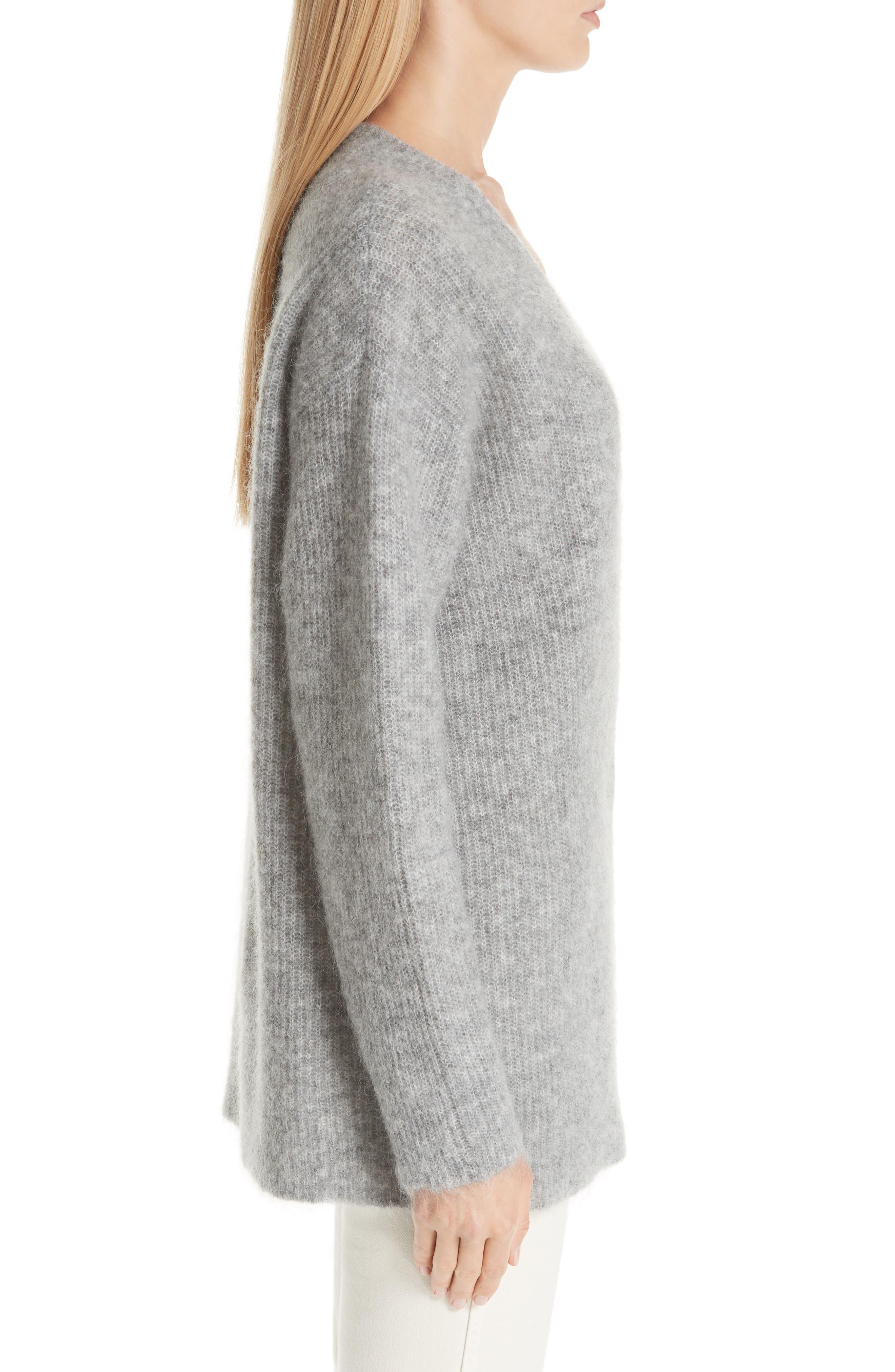 Soft Mohair Blend Knit Sweater,                             Alternate thumbnail 3, color,                             PALOMA MELANGE 921