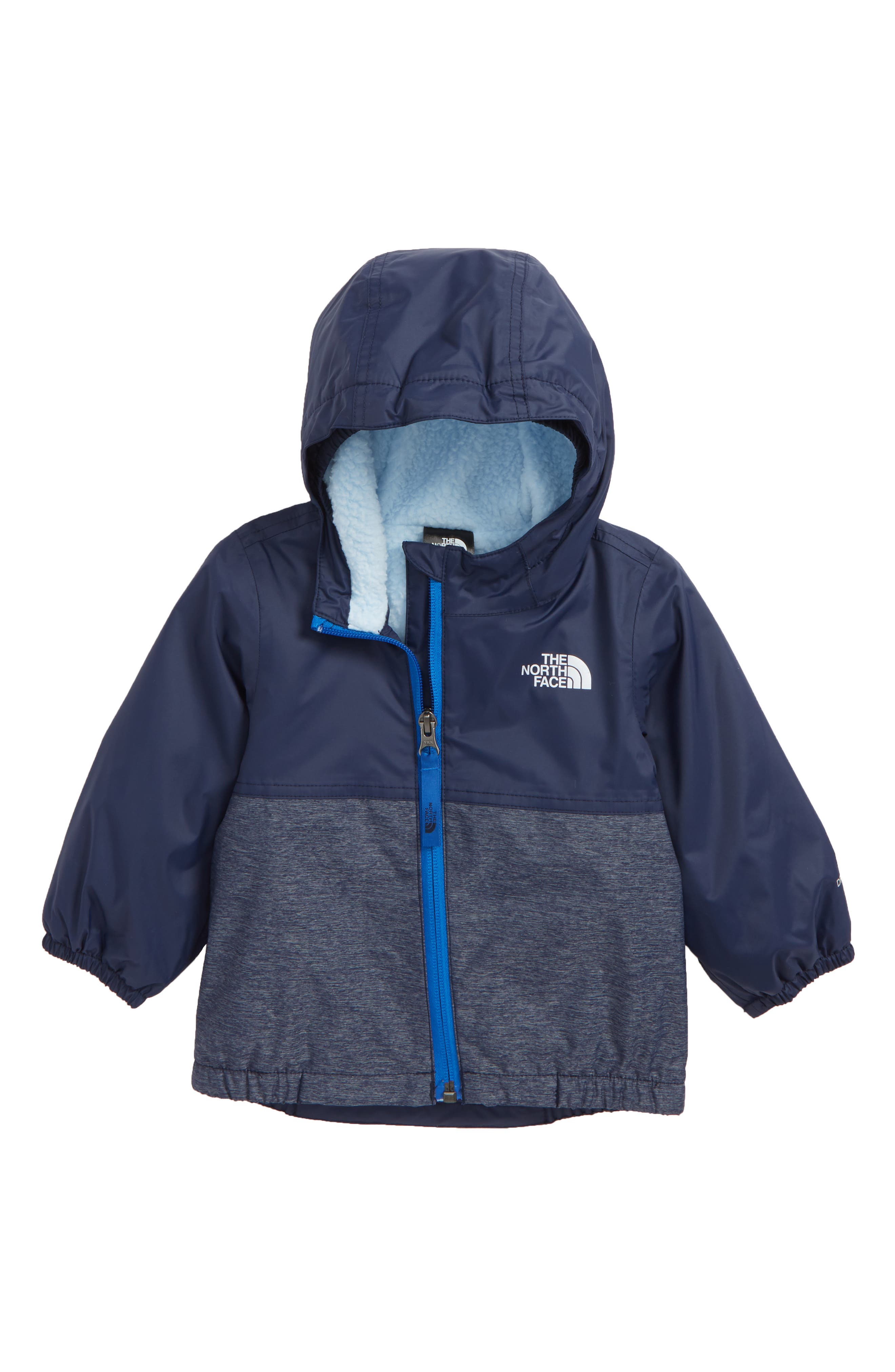 Warm Storm Hooded Waterproof Jacket,                             Main thumbnail 1, color,                             COSMIC BLUE/ BLUE HEATHER