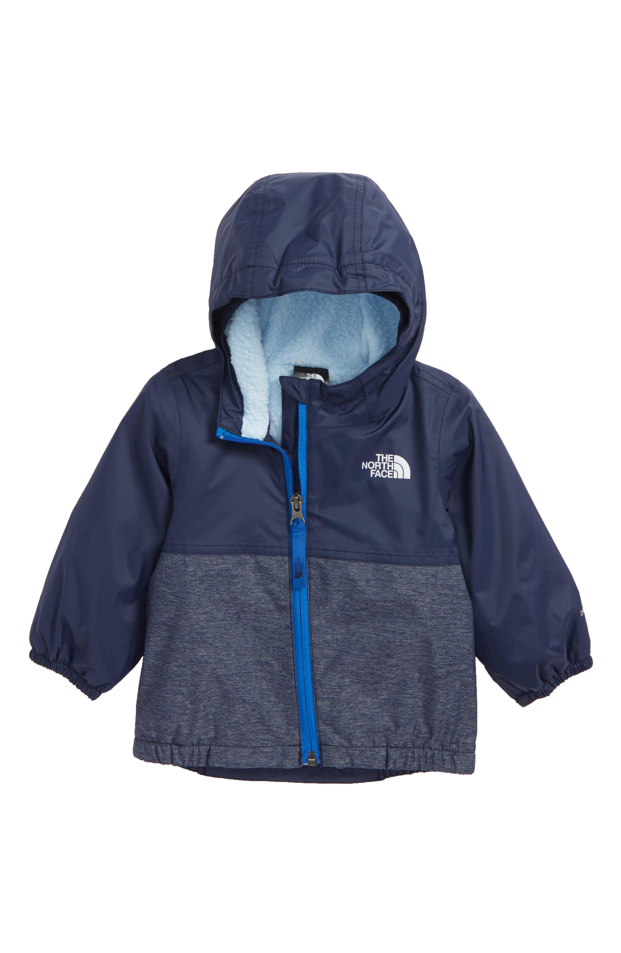 Warm Storm Hooded Waterproof Jacket,                         Main,                         color, COSMIC BLUE/ BLUE HEATHER