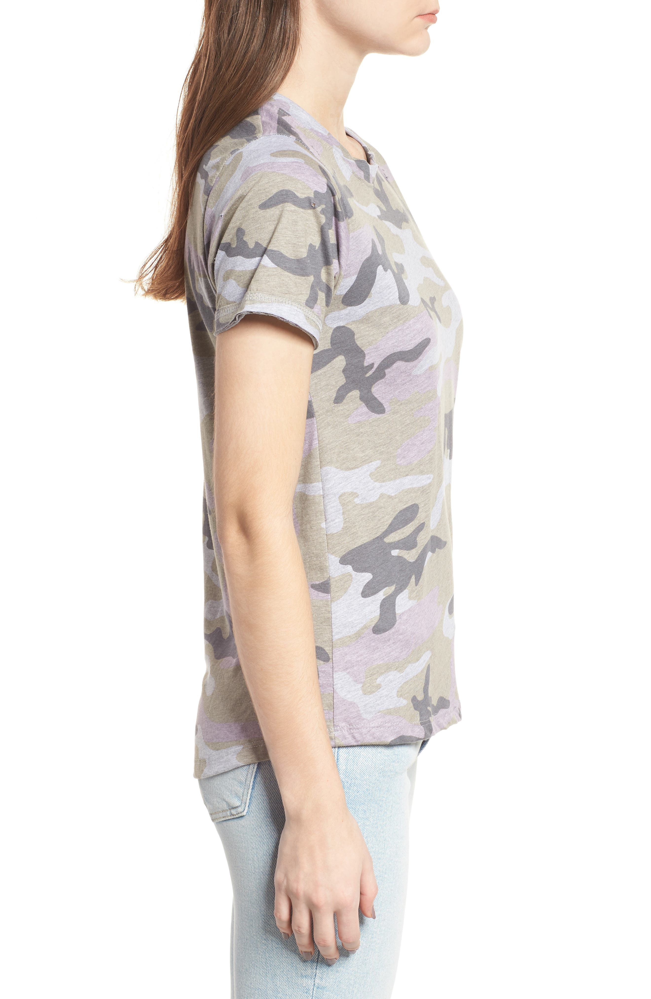 Distressed Camo Tee,                             Alternate thumbnail 3, color,                             350