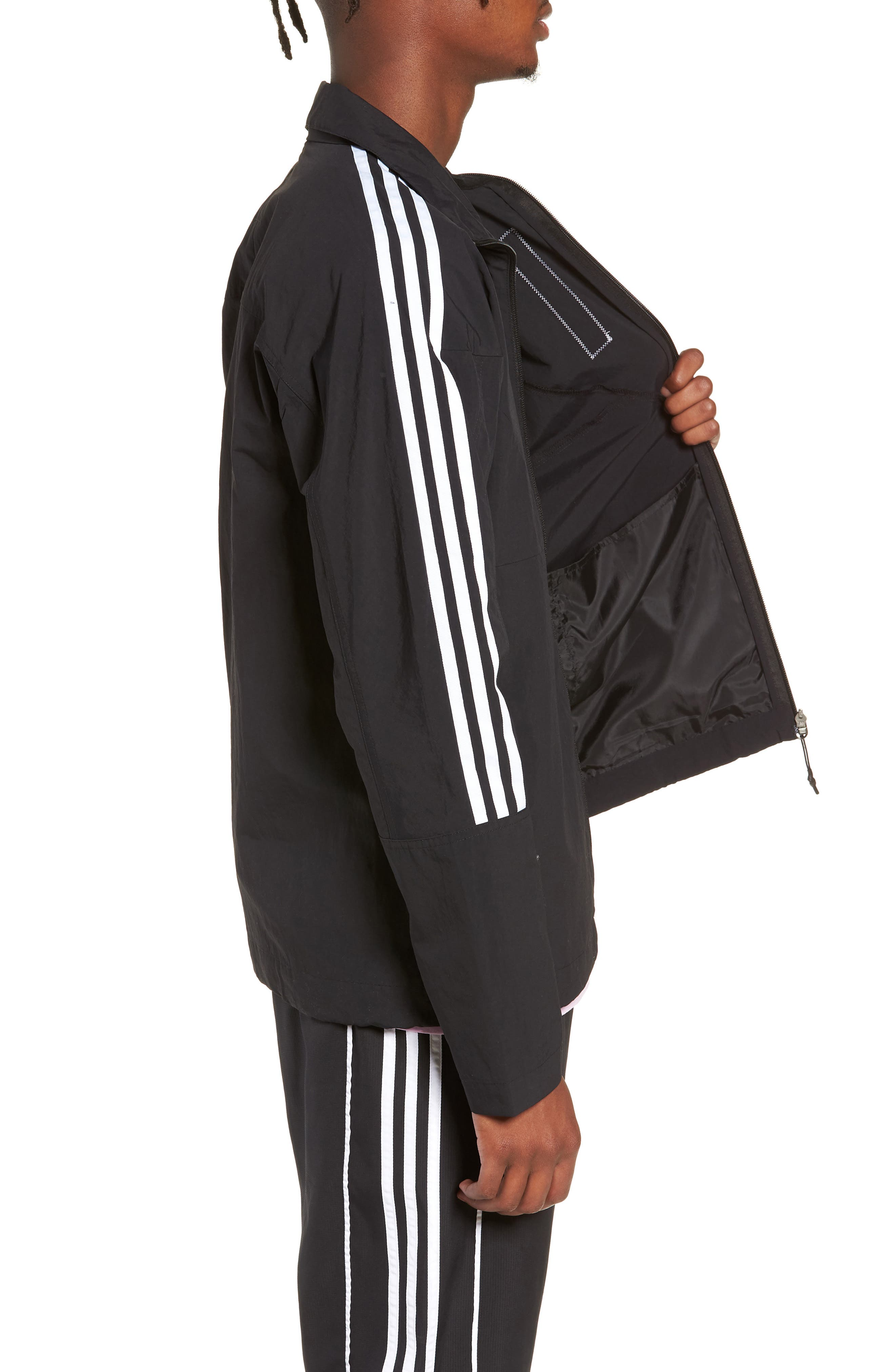 NMD Track Jacket,                             Alternate thumbnail 3, color,                             001