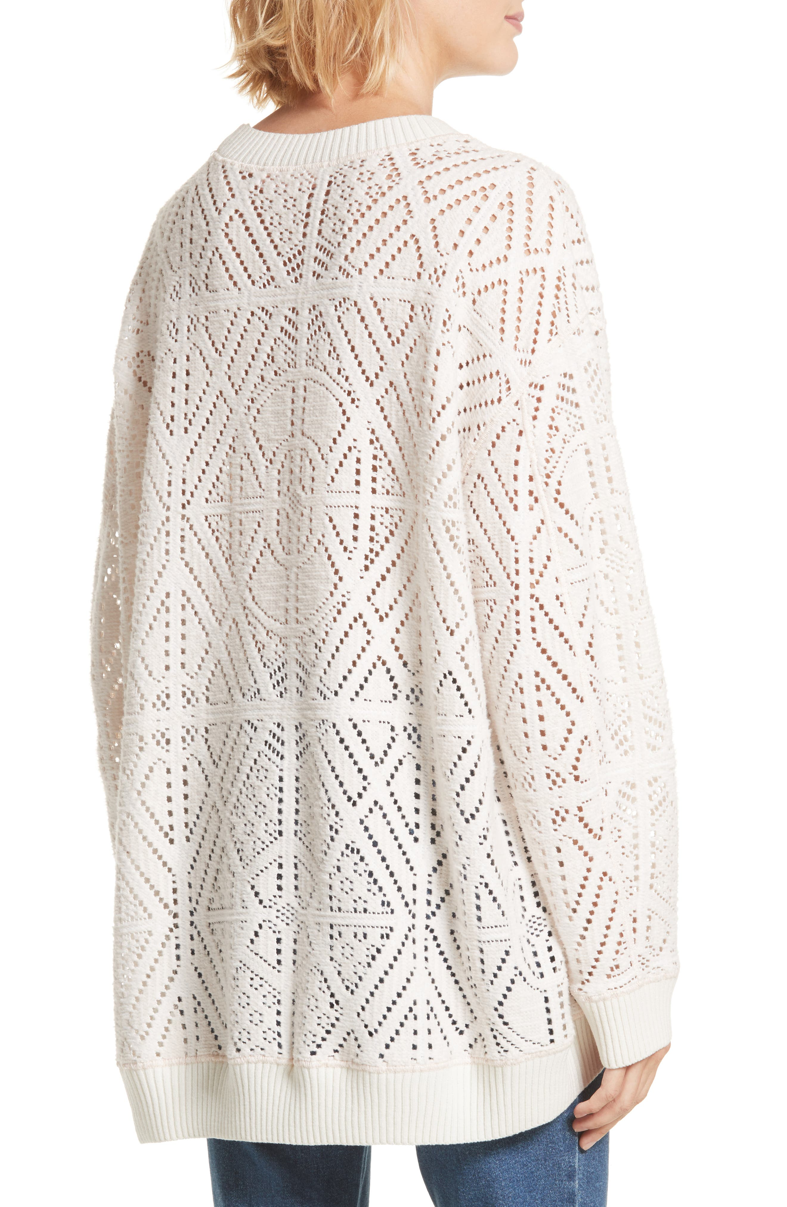 Lace Knit Sweater,                             Alternate thumbnail 2, color,                             901