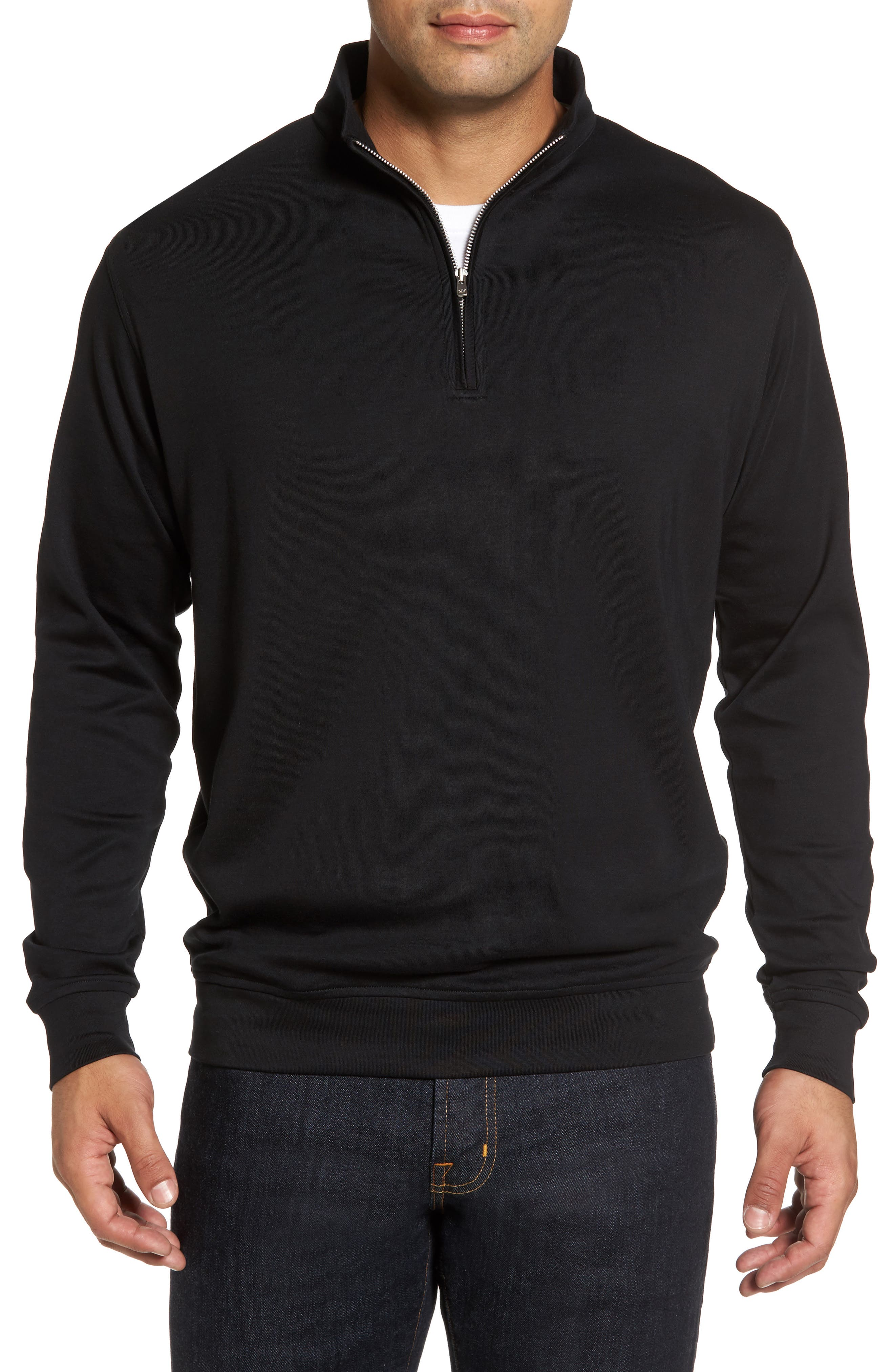Quarter Zip Pullover,                             Main thumbnail 1, color,                             001