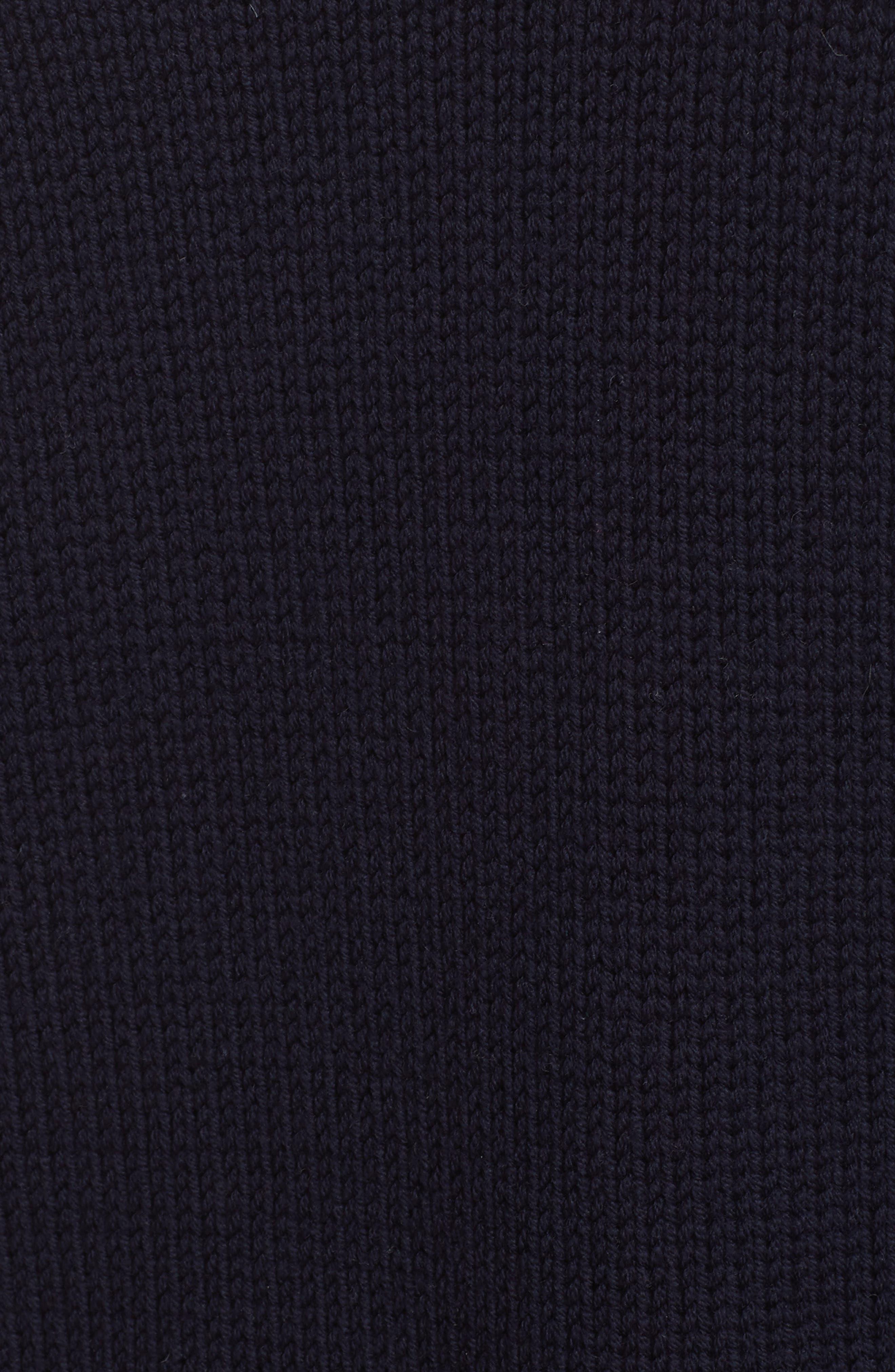 Crest Logo Wool Sweater,                             Alternate thumbnail 5, color,                             NAVY