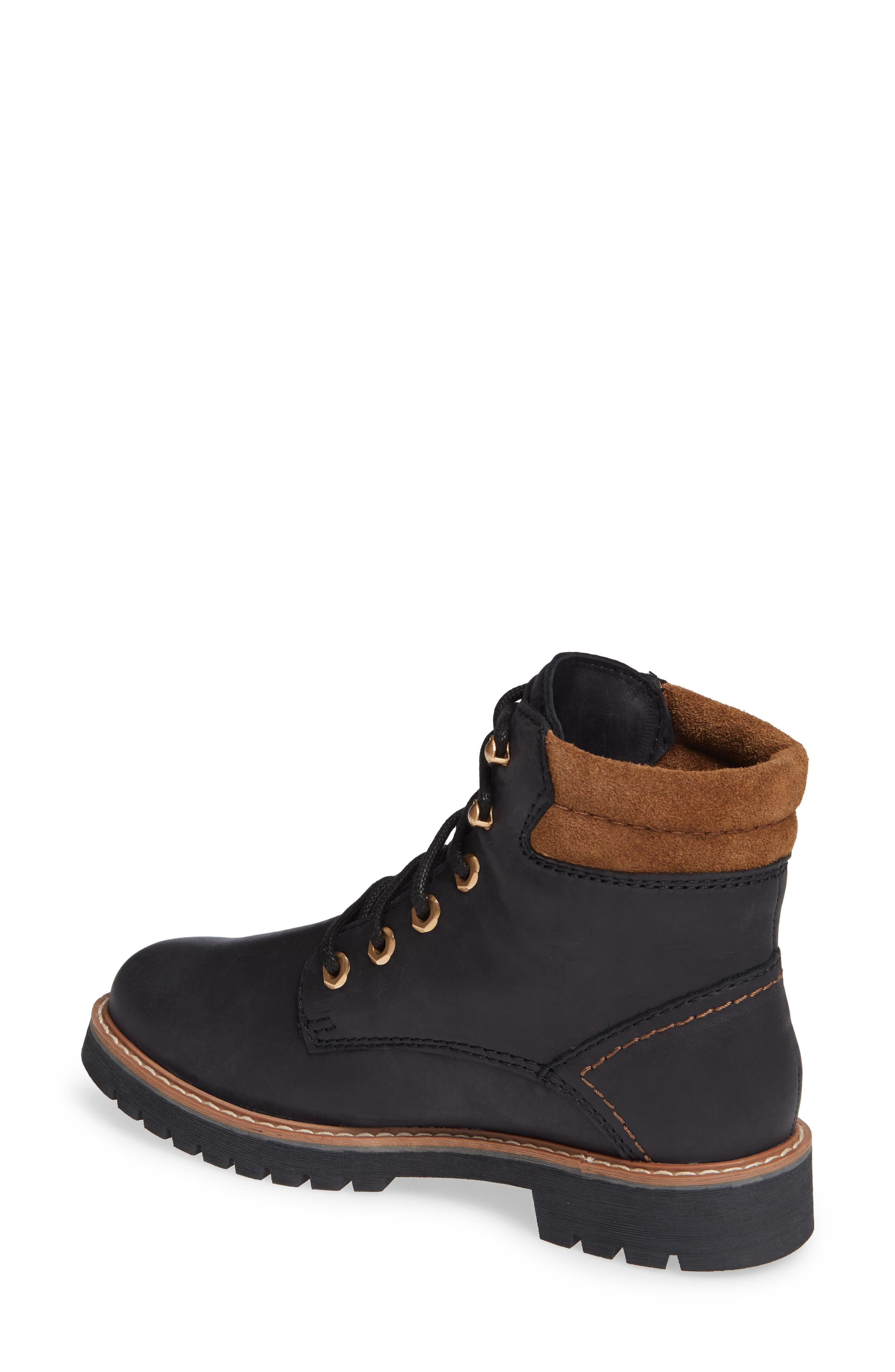 Heston Waterproof Insulated Hiking Boot,                             Alternate thumbnail 2, color,                             BLACK LEATHER