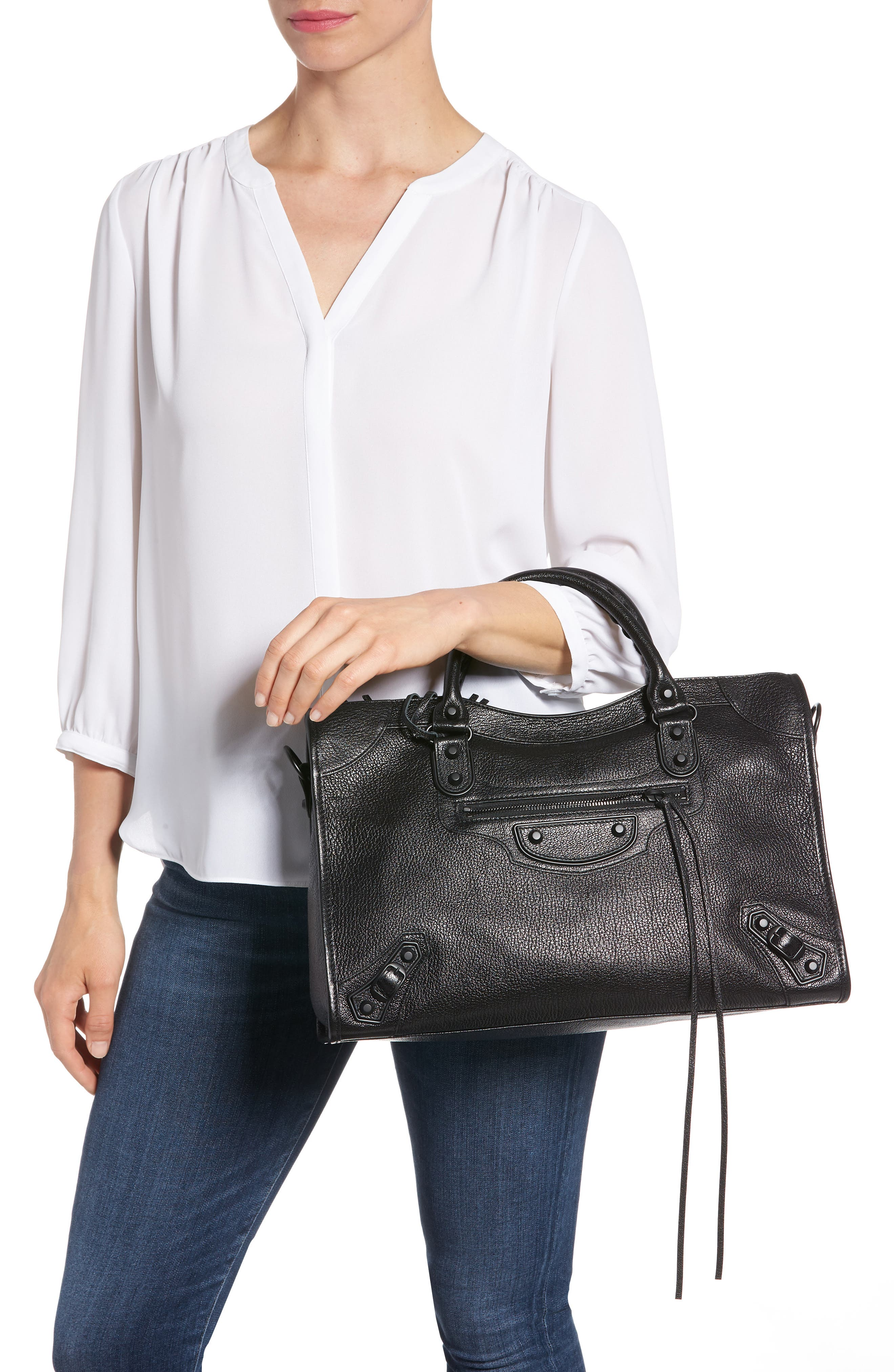 Classic City AJ Leather Tote,                             Alternate thumbnail 2, color,                             001