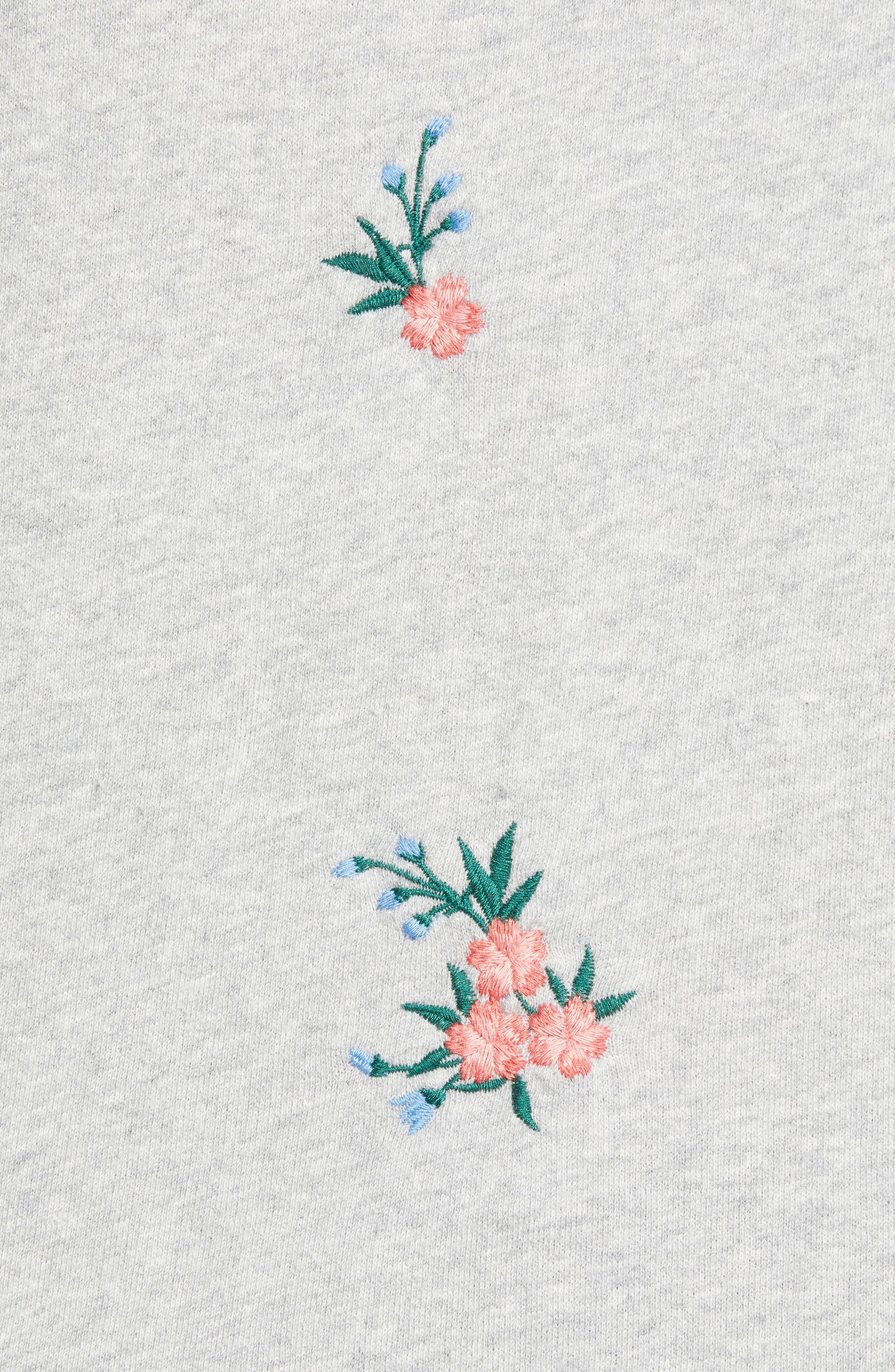 Embroidered Sweatshirt,                             Alternate thumbnail 5, color,                             030