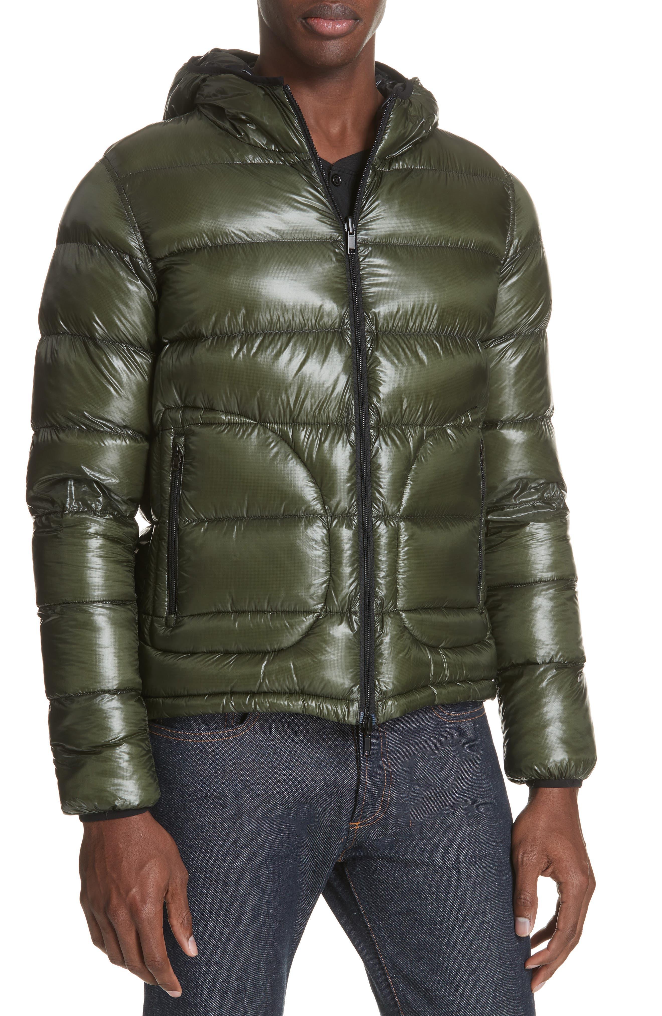 Lightweight Reversible Down Jacket,                             Alternate thumbnail 5, color,                             GREEN