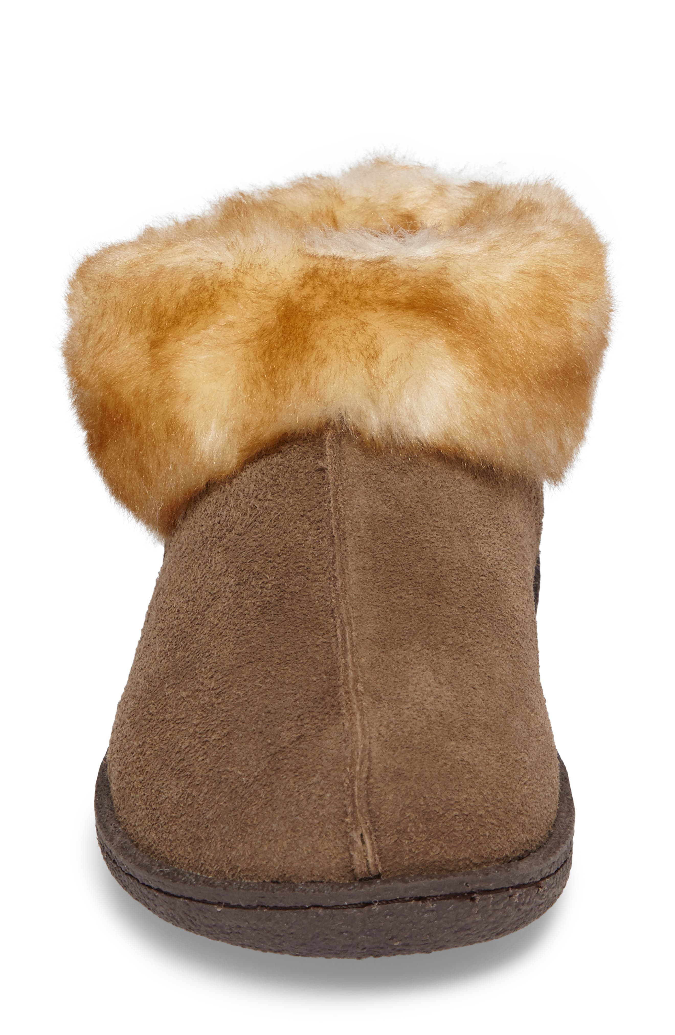 Autumn Ridge II Faux Fur Slipper Bootie,                             Alternate thumbnail 8, color,