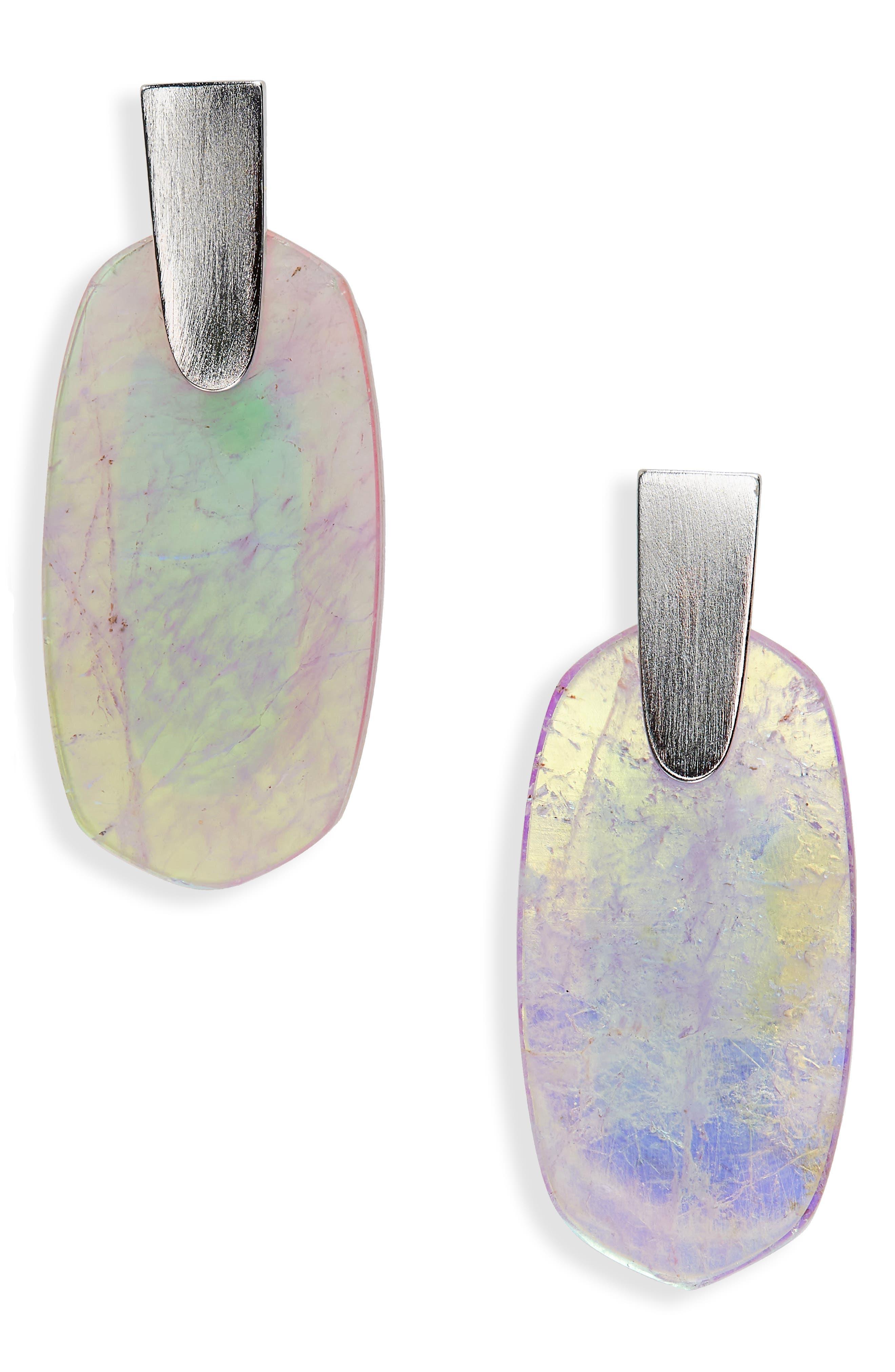 Aragon Drop Earrings,                             Main thumbnail 1, color,                             AMETHYST DICHROIC/ SILVER