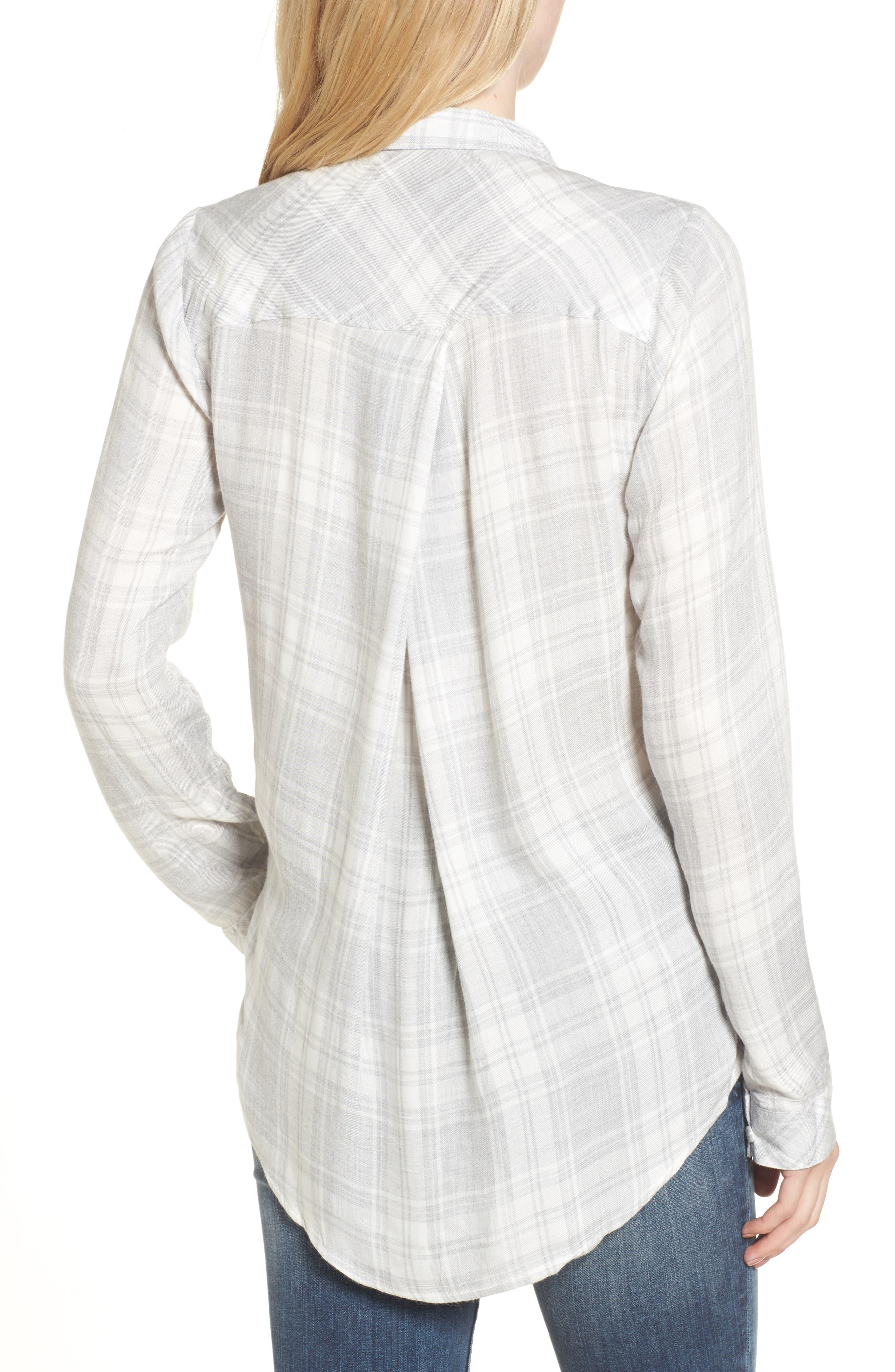 Zoey Plaid Shirt,                             Alternate thumbnail 2, color,                             051