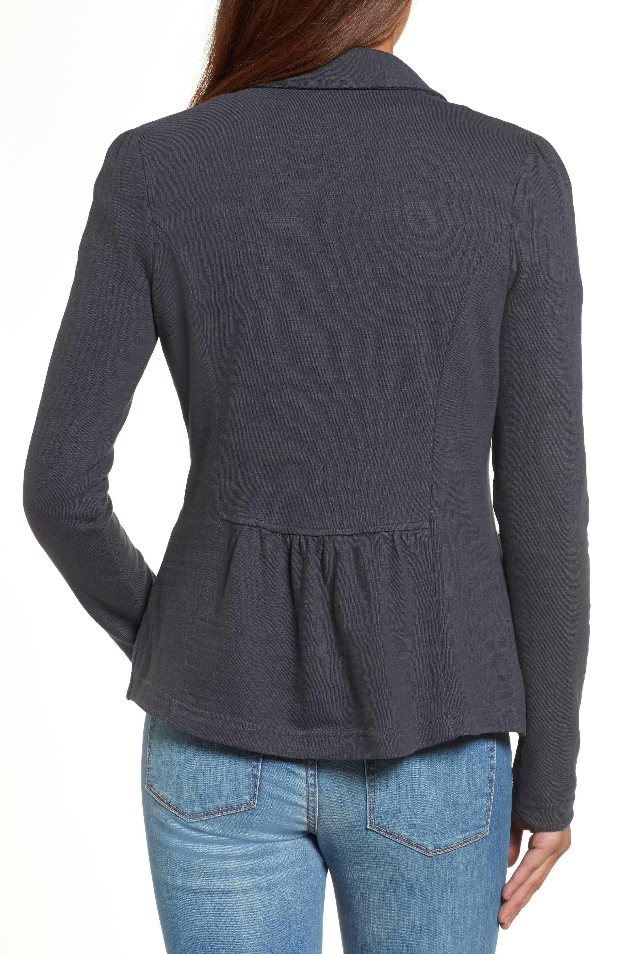Knit One-Button Blazer,                             Alternate thumbnail 43, color,