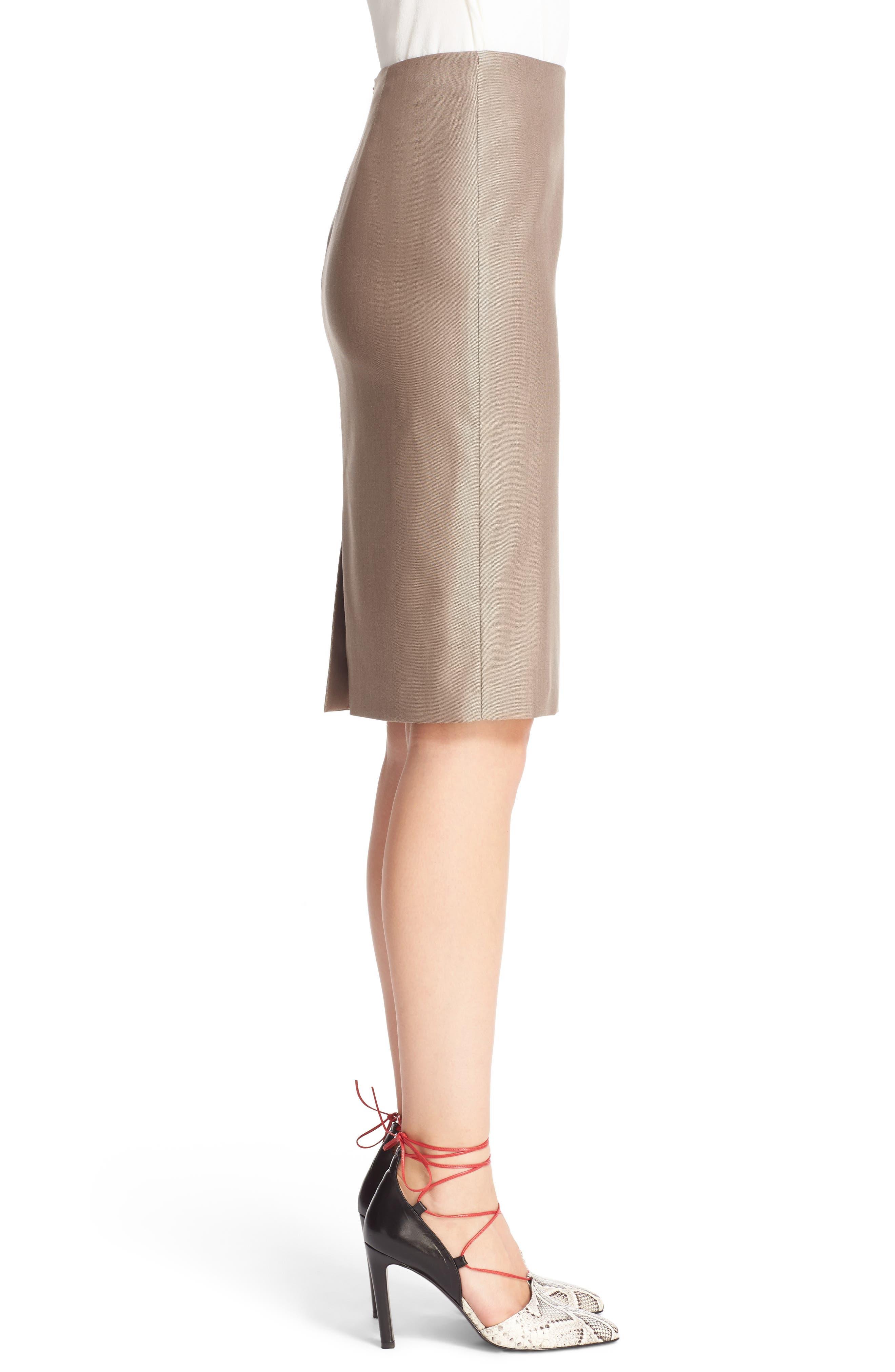 Wool Blend Pencil Skirt,                             Alternate thumbnail 4, color,                             220