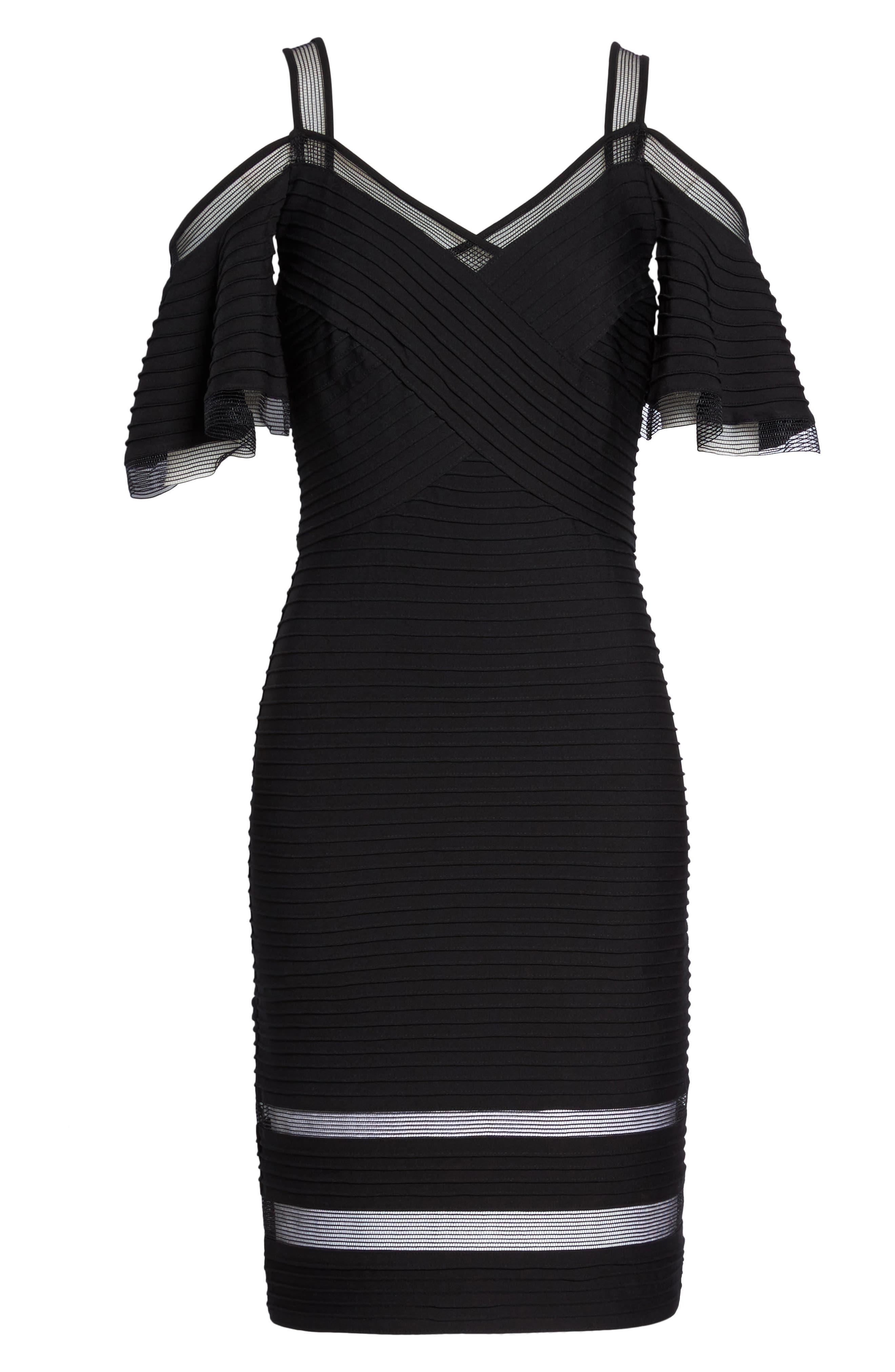 Cold Shoulder Cocktail Dress,                             Alternate thumbnail 6, color,