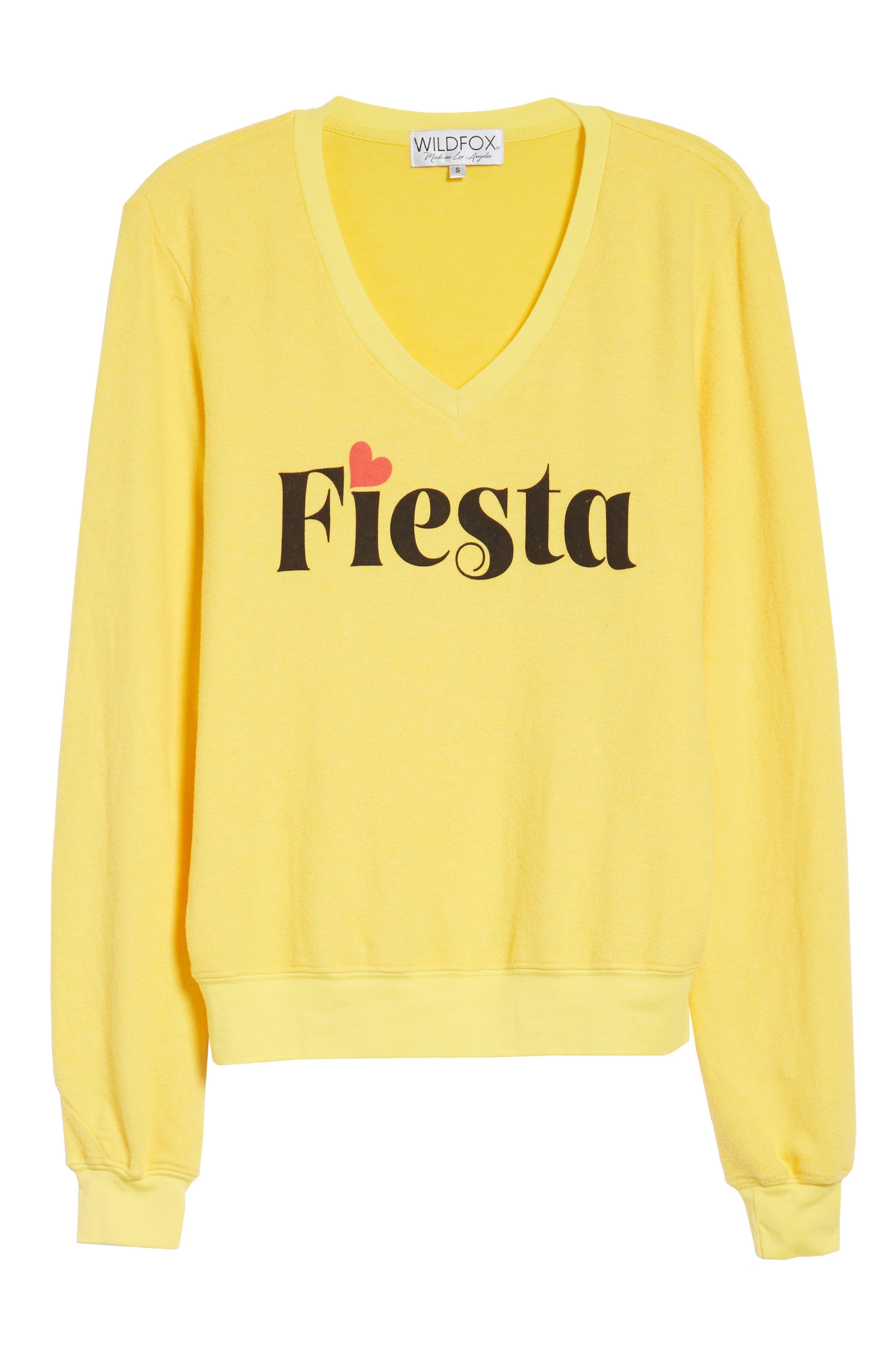 Fiesta V-Neck Baggy Beach Pullover,                             Alternate thumbnail 7, color,                             750
