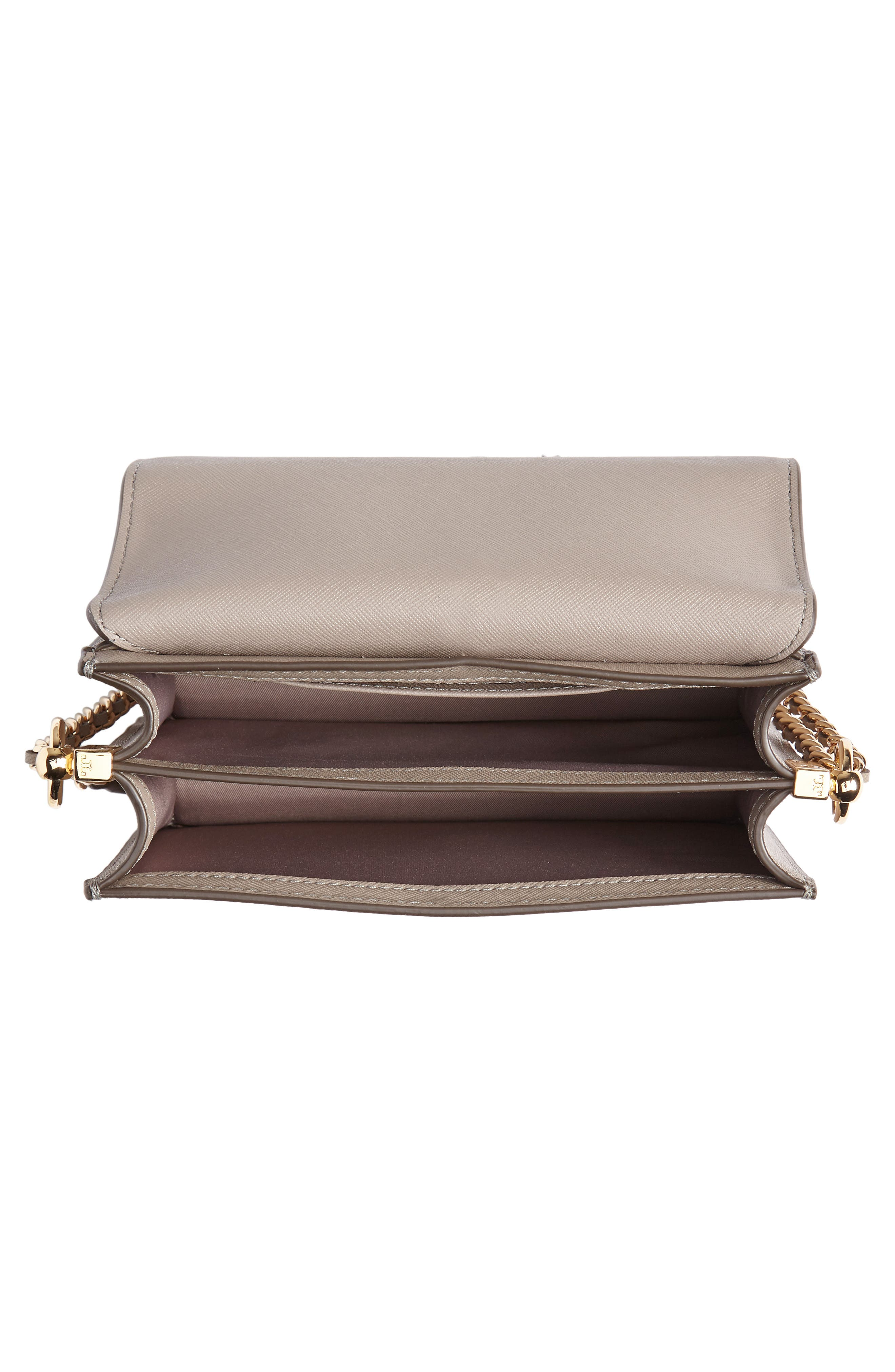 Mini Robinson Convertible Leather Shoulder Bag,                             Alternate thumbnail 4, color,                             GRAY HERON