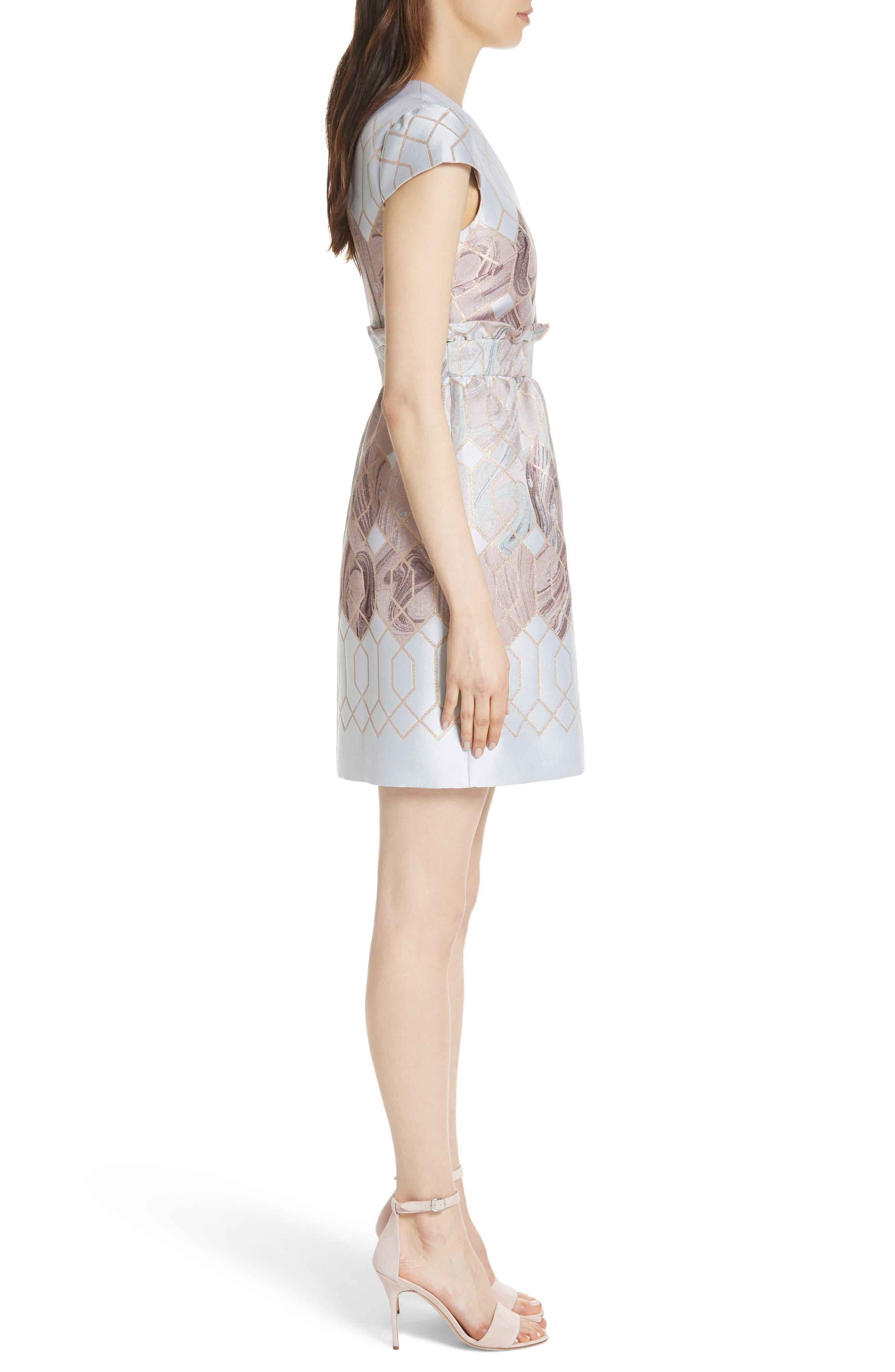 Ingrida Sea of Clouds Tulip Dress,                             Alternate thumbnail 3, color,                             110