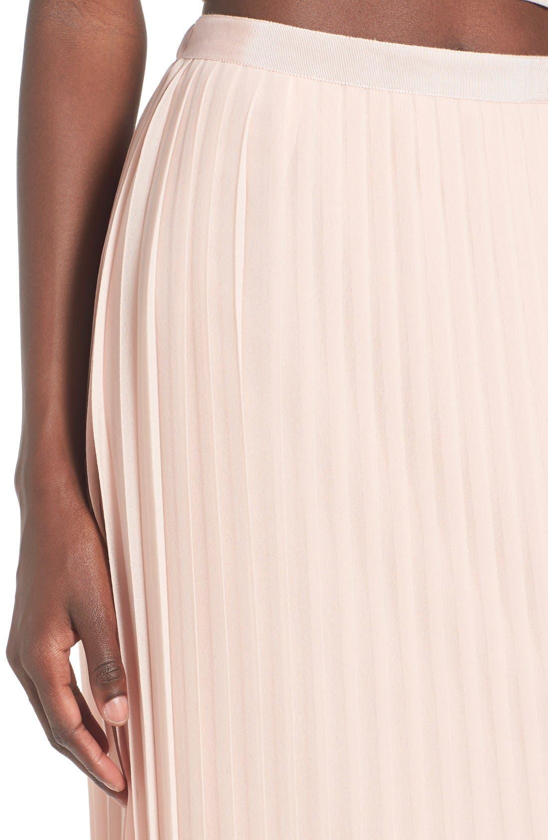 CHELSEA28,                             Pleated Midi Skirt,                             Alternate thumbnail 3, color,                             680