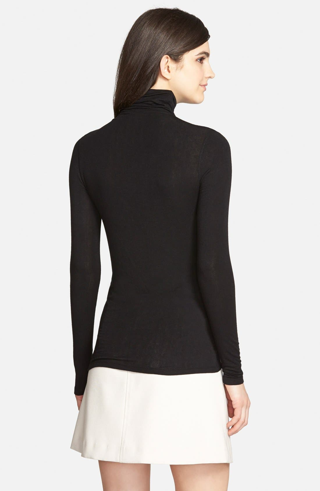 Layering Turtleneck,                             Alternate thumbnail 8, color,                             BLACK