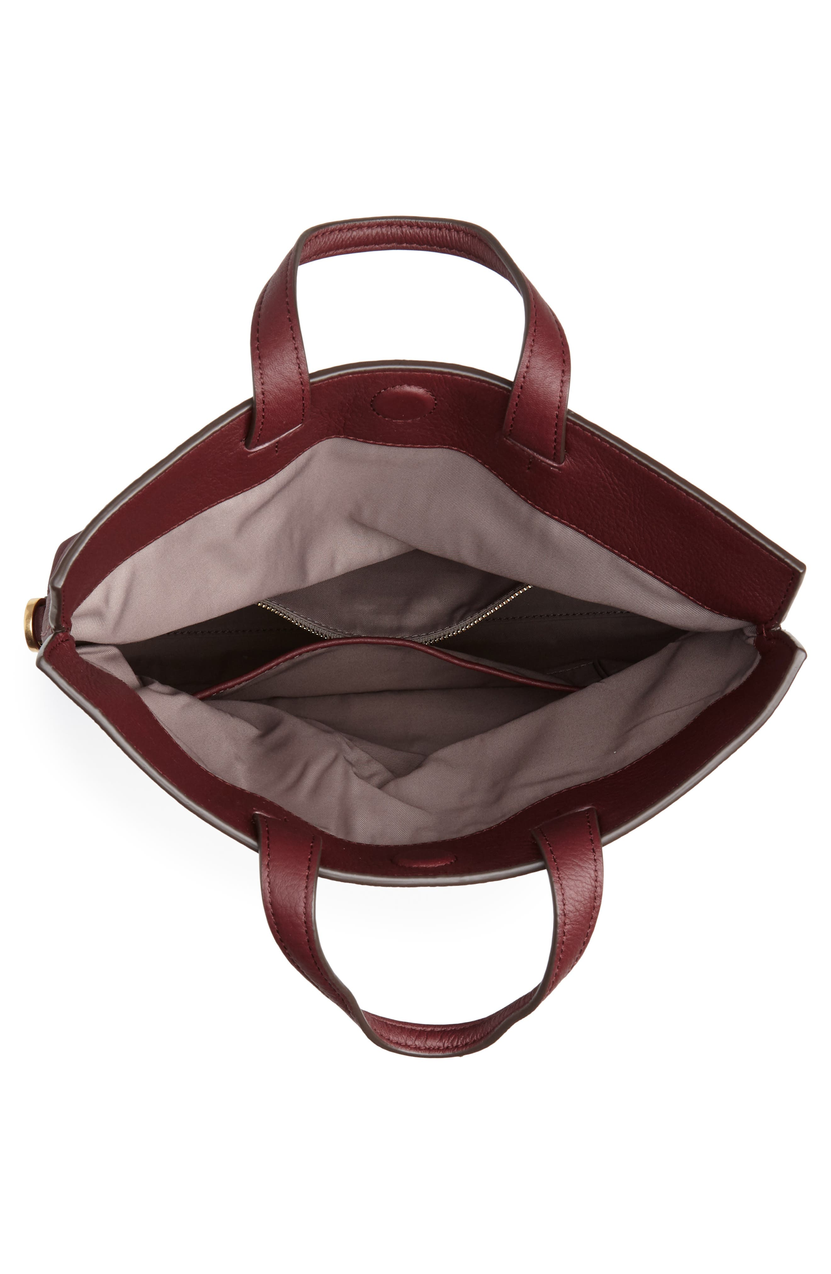 Half Moon Convertible Crossbody Bag,                             Alternate thumbnail 5, color,                             CLARET