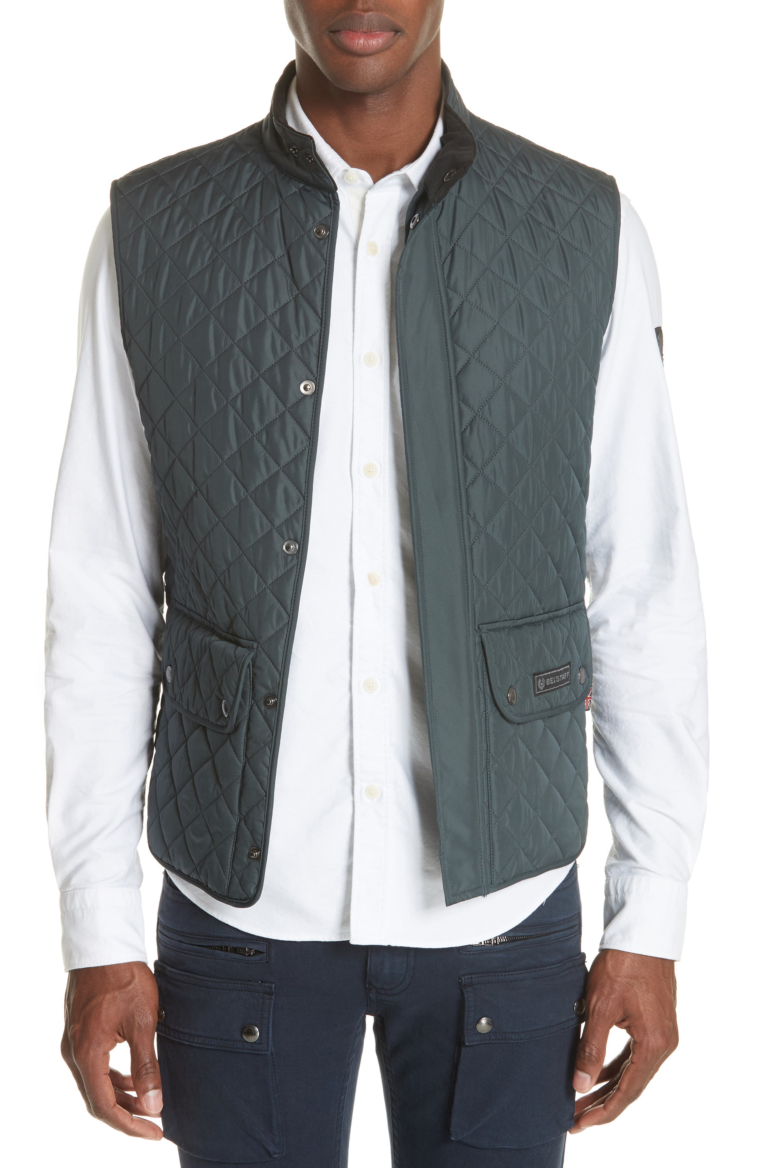 Waistcoat Tech Quilted Vest,                             Main thumbnail 1, color,                             400