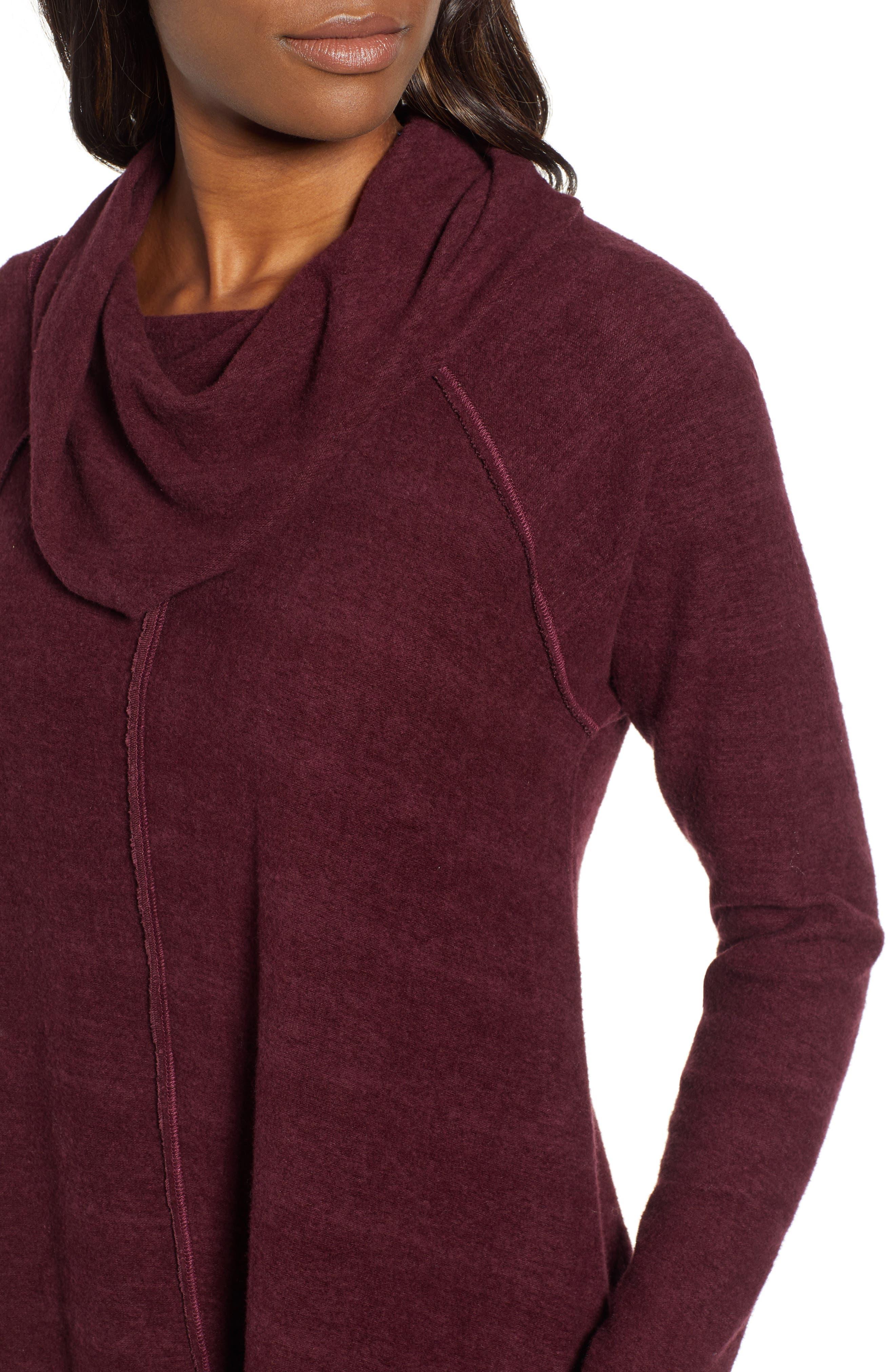 Knit Cowl Neck Tunic,                             Alternate thumbnail 4, color,                             930