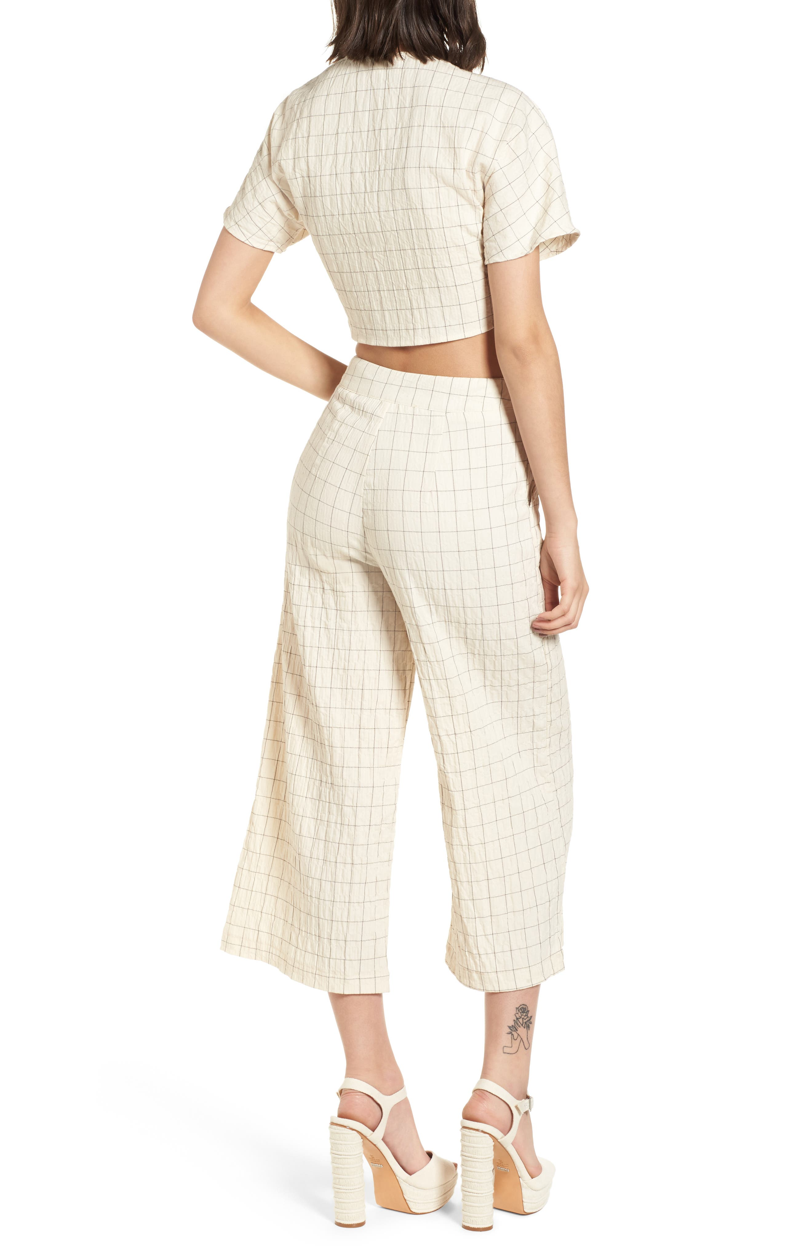 Plaid Culottes,                             Alternate thumbnail 9, color,                             250