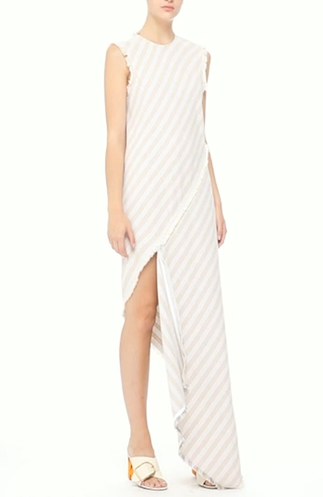 ACNE STUDIOS,                             'Cosby' Stripe Sleeveless Dress,                             Alternate thumbnail 5, color,                             270