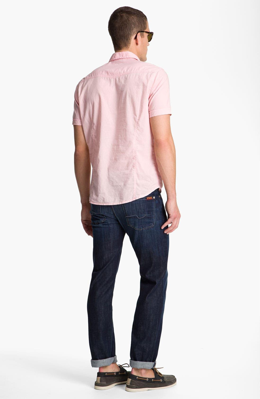 Slimmy Slim Fit Jeans,                             Alternate thumbnail 4, color,                             LOS ANGELES DARK