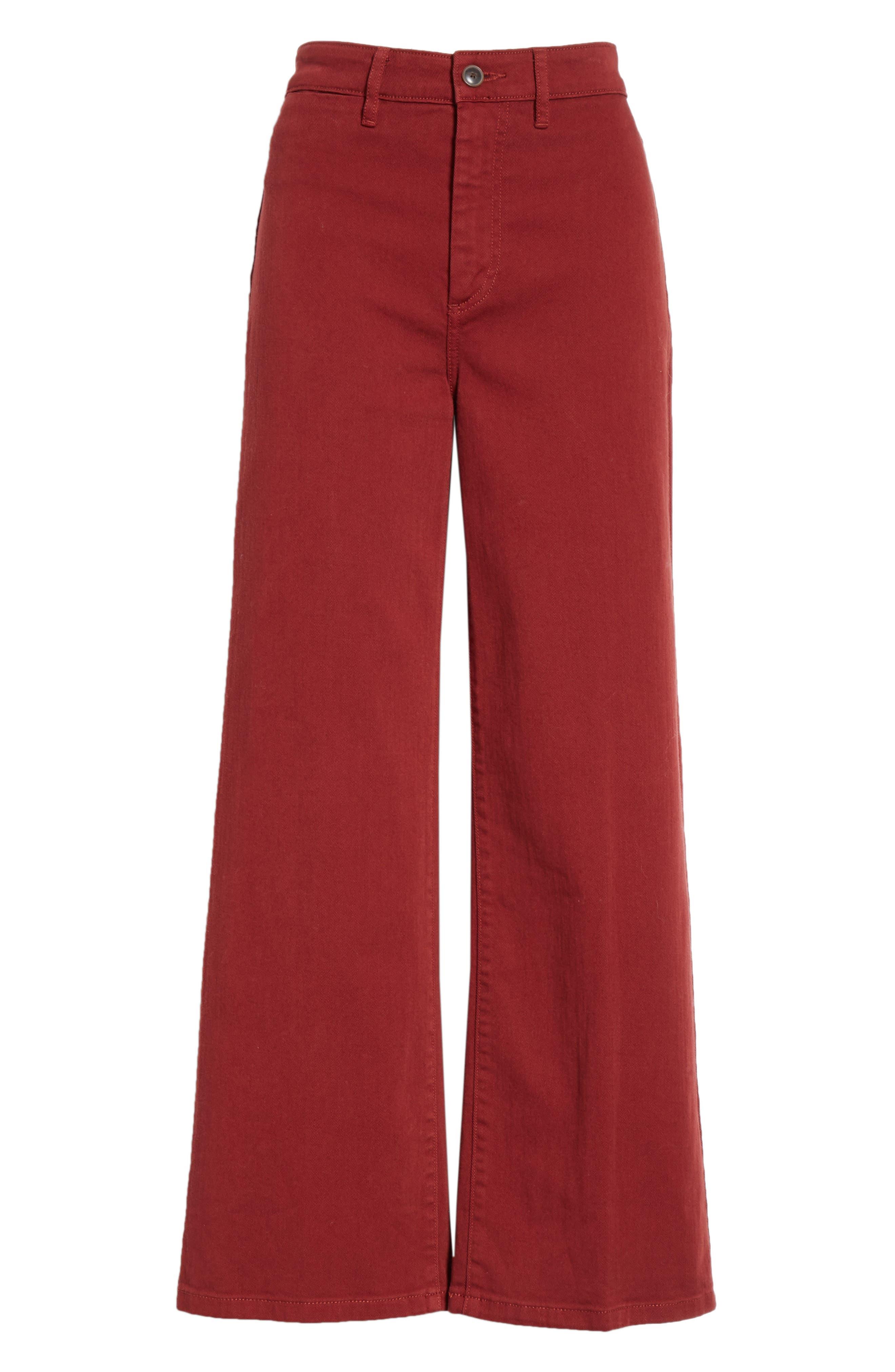 Colored Denim Crop Pants,                             Alternate thumbnail 6, color,                             631