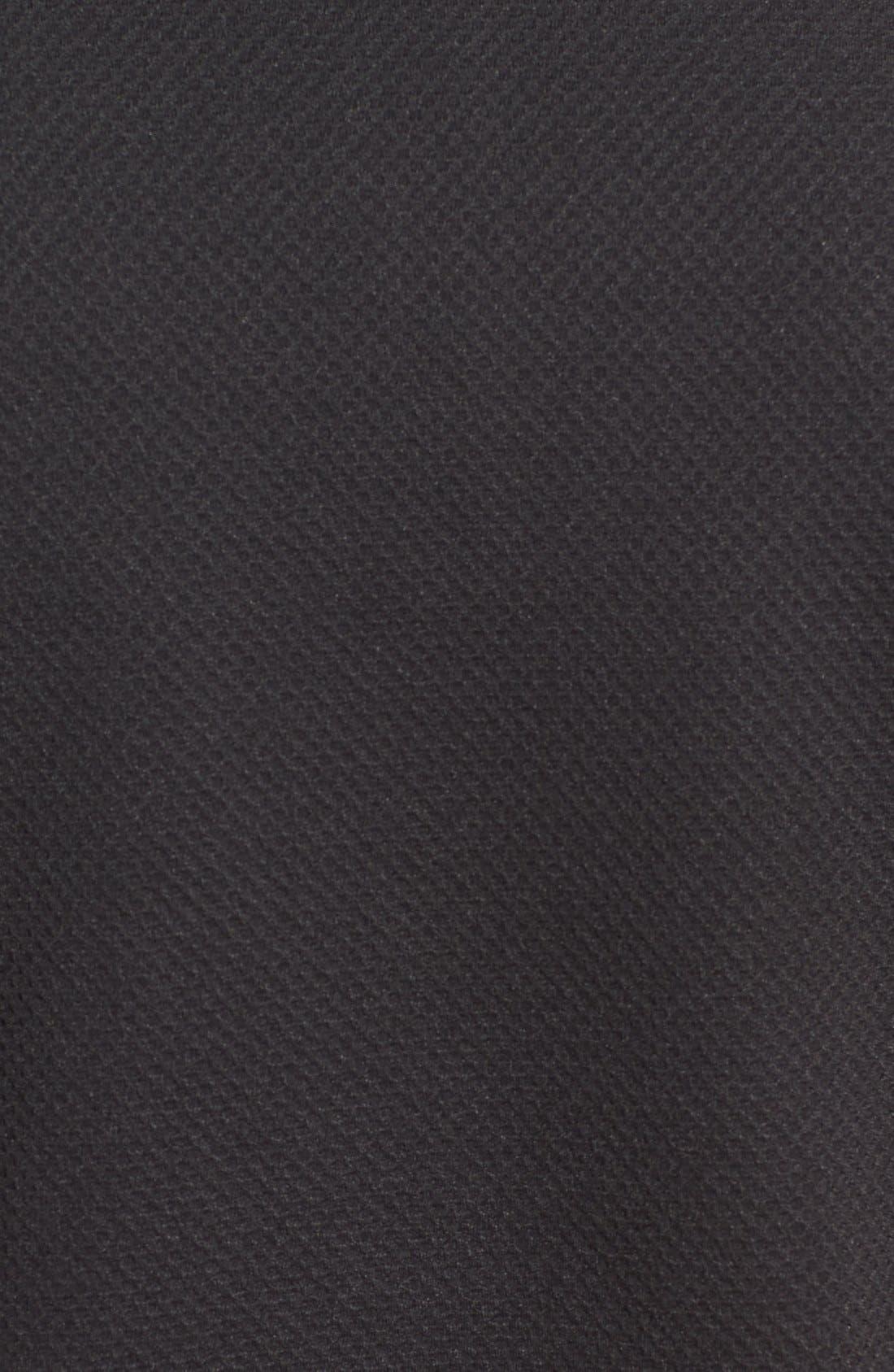 Slim Fit Mesh Polo,                             Alternate thumbnail 5, color,                             BLACK